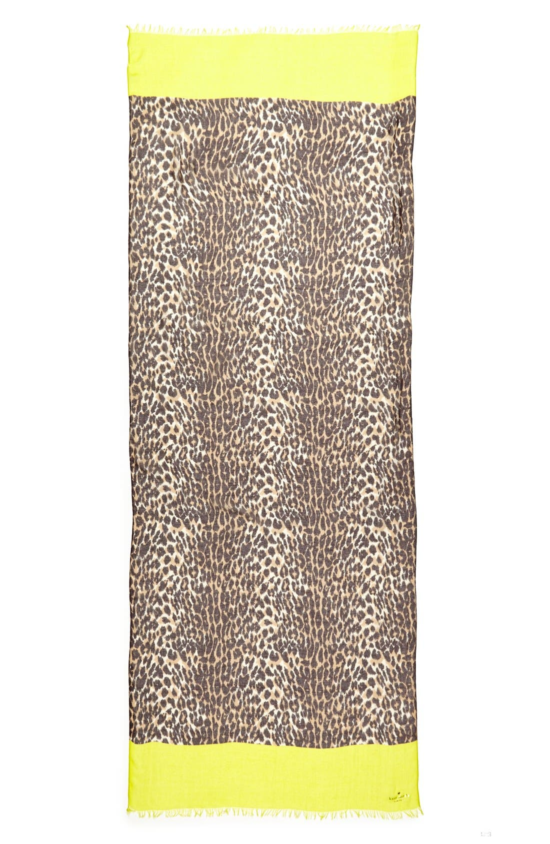 Alternate Image 2  - kate spade new york 'cuban leopard' scarf