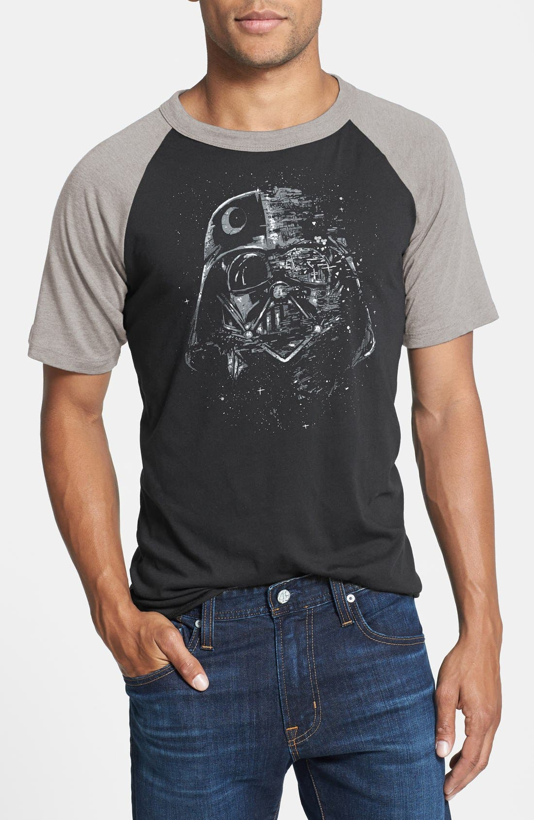 Main Image - Mighty Fine 'Vader Broken Mask' Graphic T-Shirt