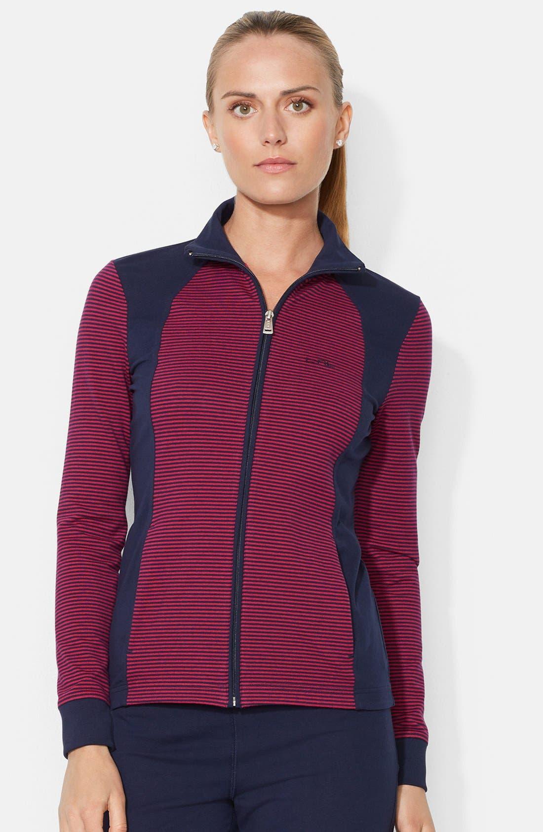 Main Image - Lauren Ralph Lauren Mock Neck Front Zip Jacket (Petite)