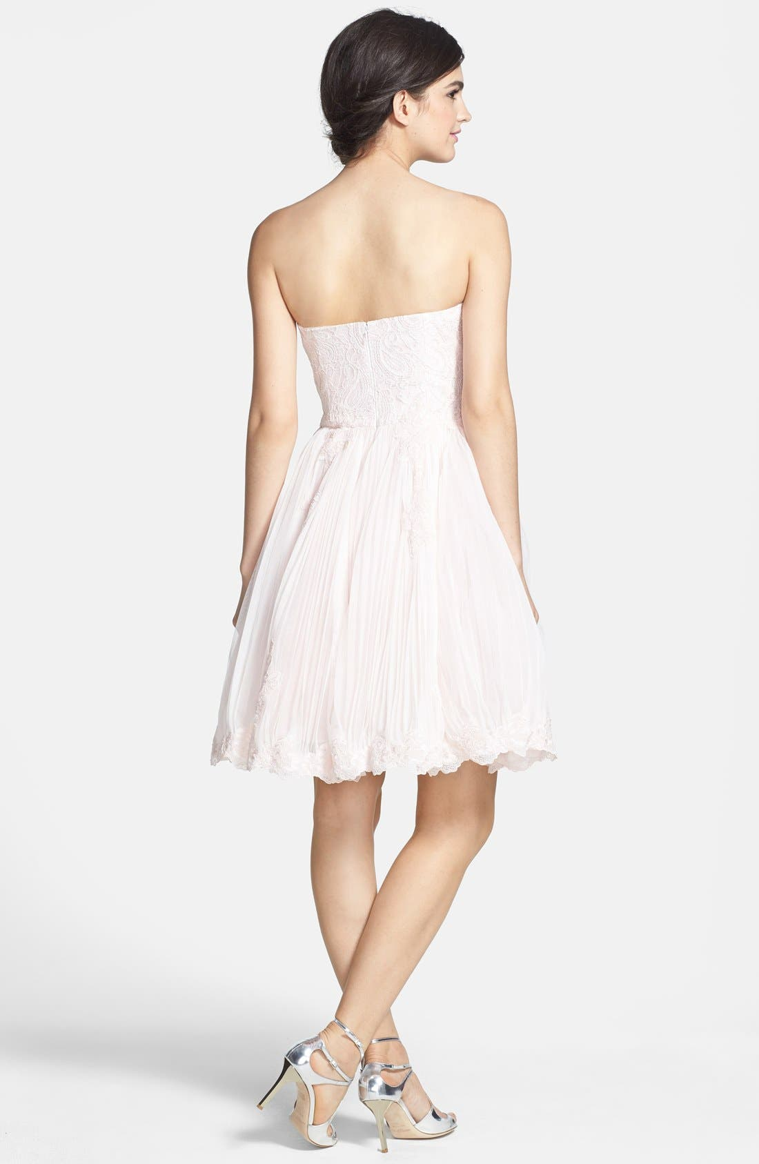 Alternate Image 2  - Ted Baker London 'Raul' Embroidered Lace Fit & Flare Dress