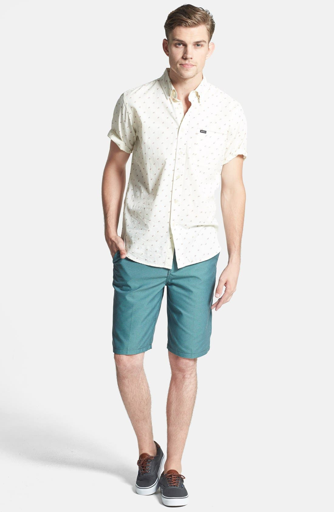 Alternate Image 4  - Hurley 'Hickory' Herringbone Dri-FIT Shorts