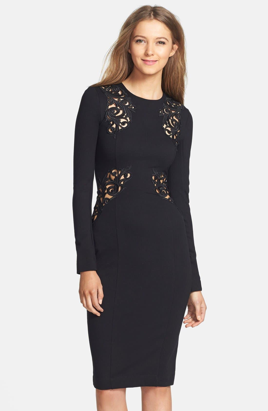 Alternate Image 1 Selected - French Connection Lace Inset Body-Con Dress