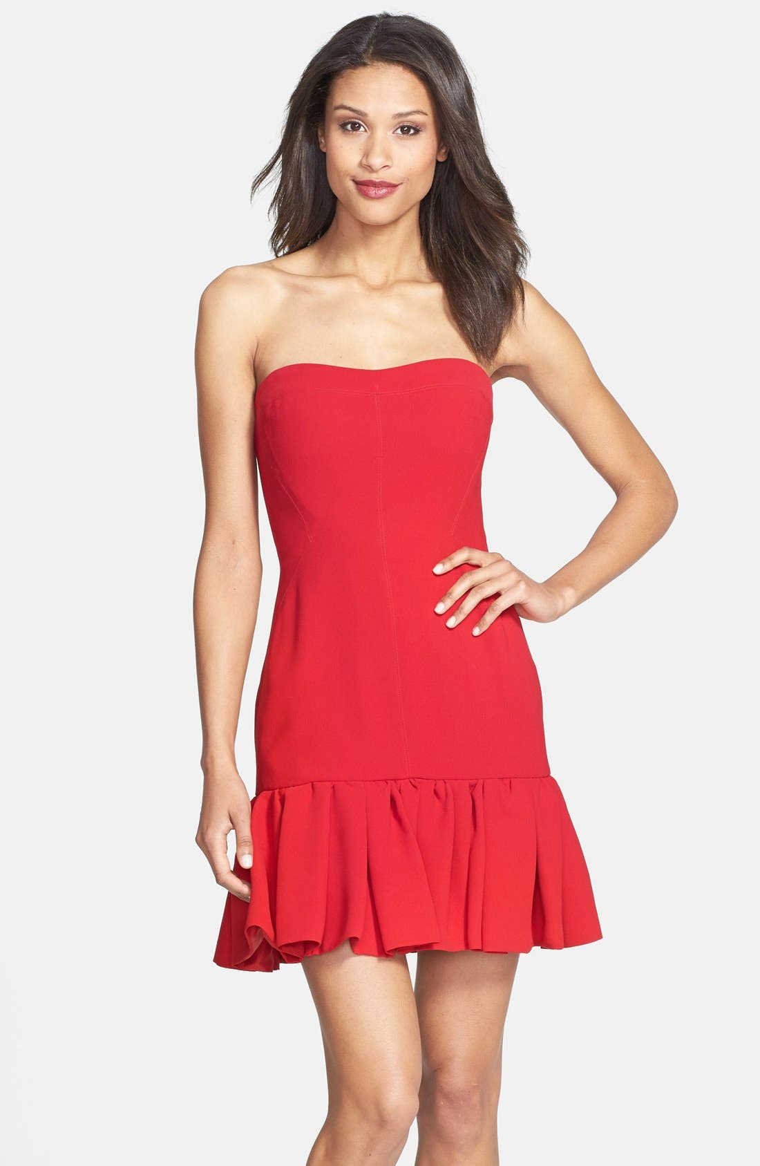 Alternate Image 1 Selected - Jill Jill Stuart Strapless Fitted Crepe Dress