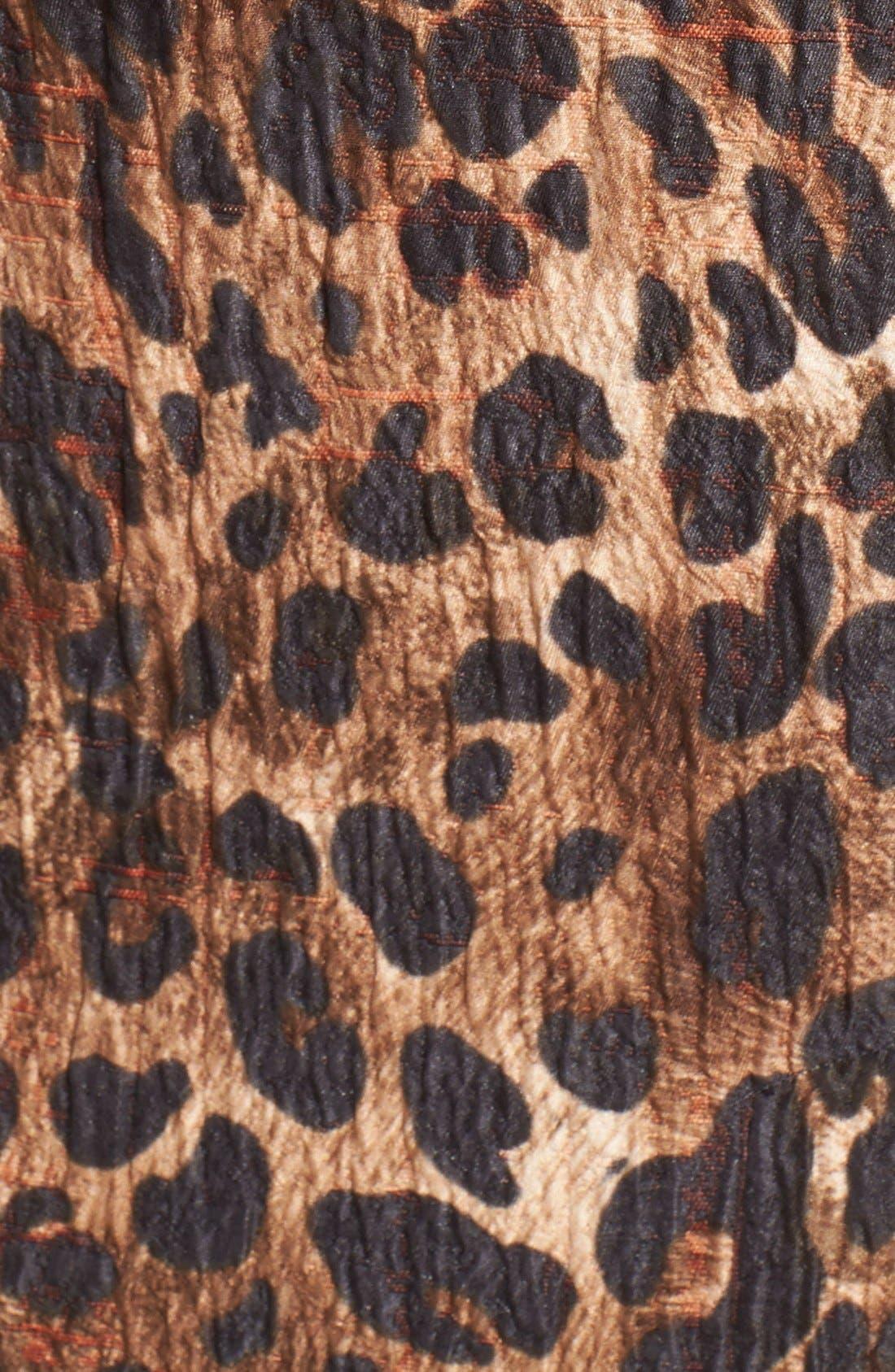 Alternate Image 4  - Lafayette 148 New York 'Priscilla' Leopard Print Midi Skirt