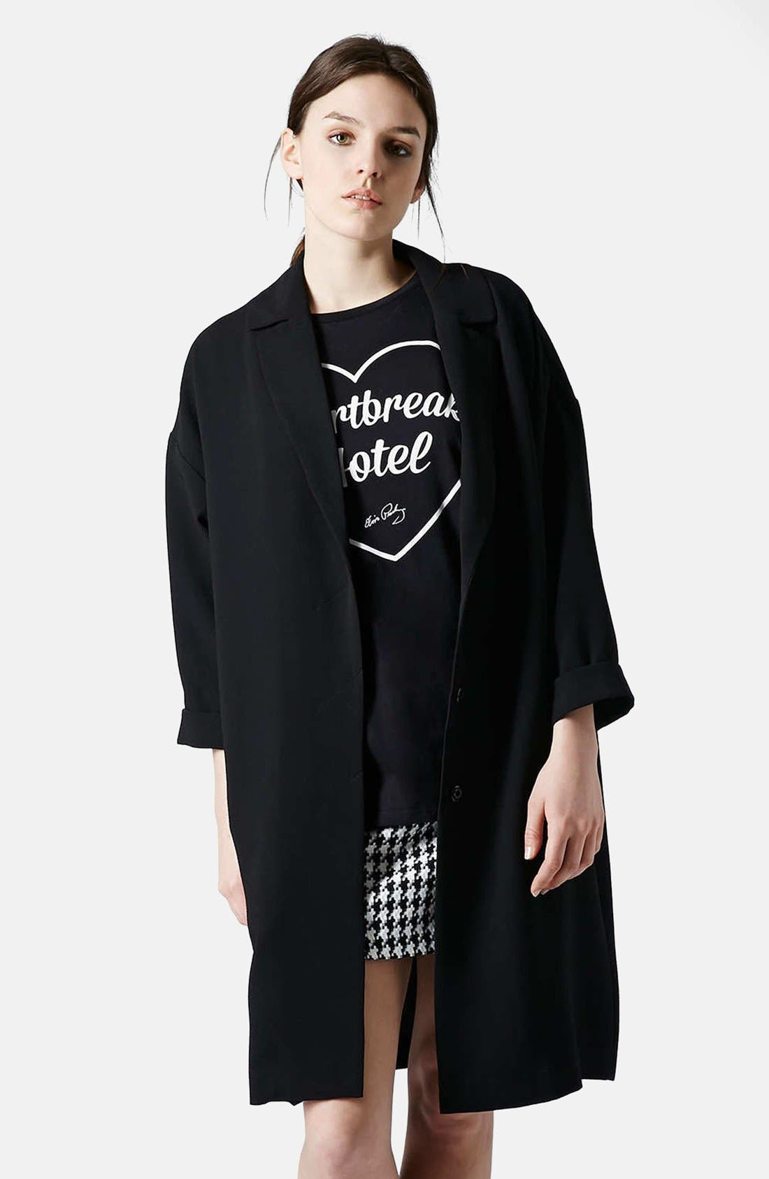 Main Image - Topshop Crepe Duster Jacket