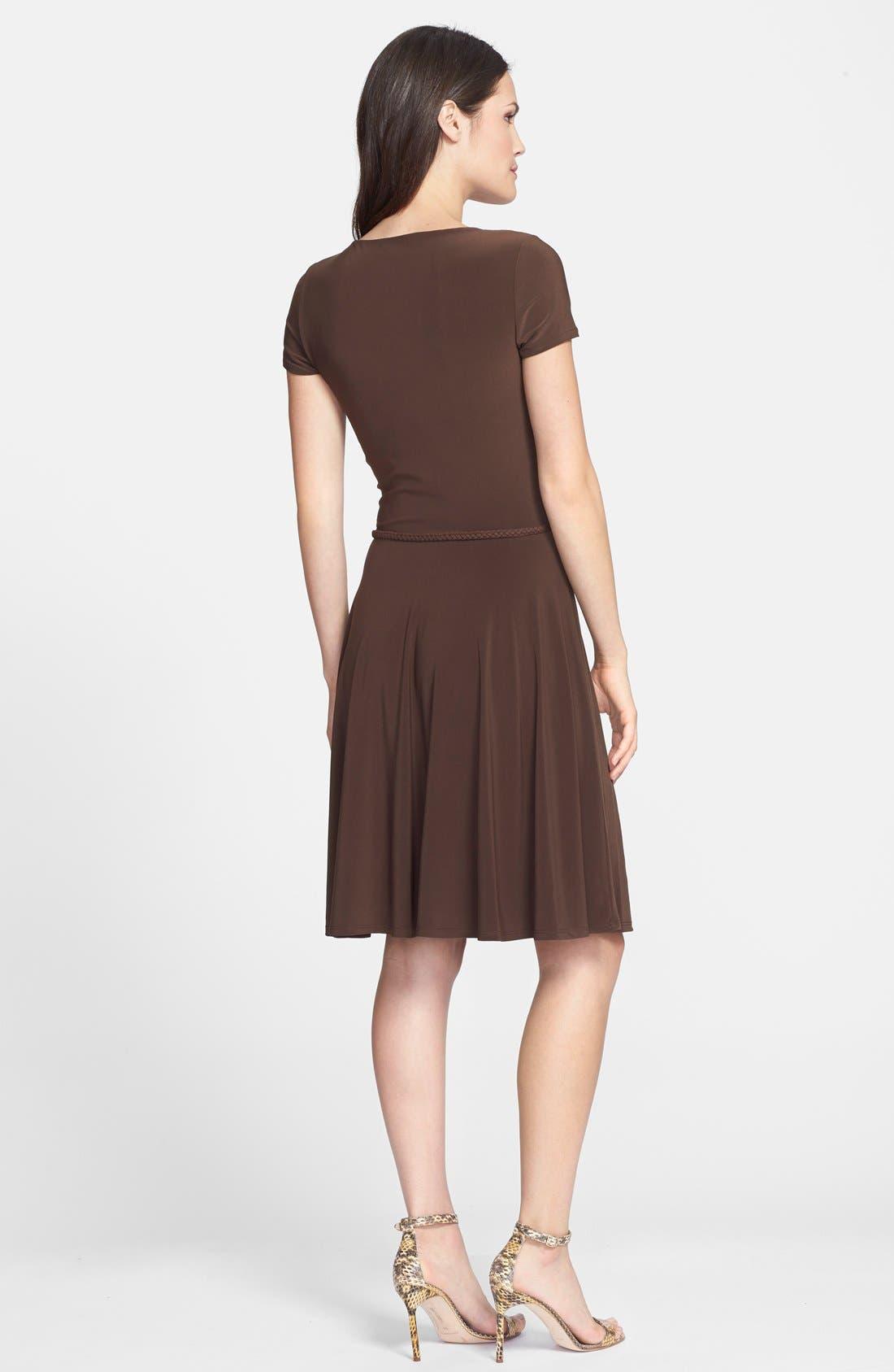 Alternate Image 2  - Lauren Ralph Lauren Belted Fit & Flare Jersey Dress
