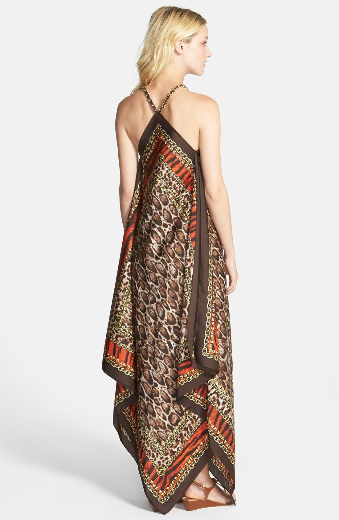 Alternate Image 2  - MICHAEL Michael Kors 'Kasai' Scarf Print V-Neck Maxi Dress