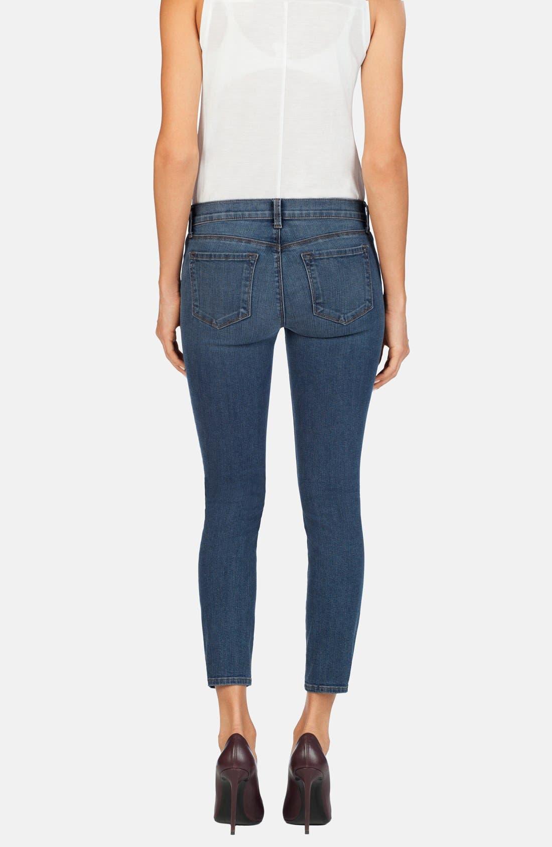 Alternate Image 2  - J Brand Mid Rise Crop Skinny Jeans (Beloved)