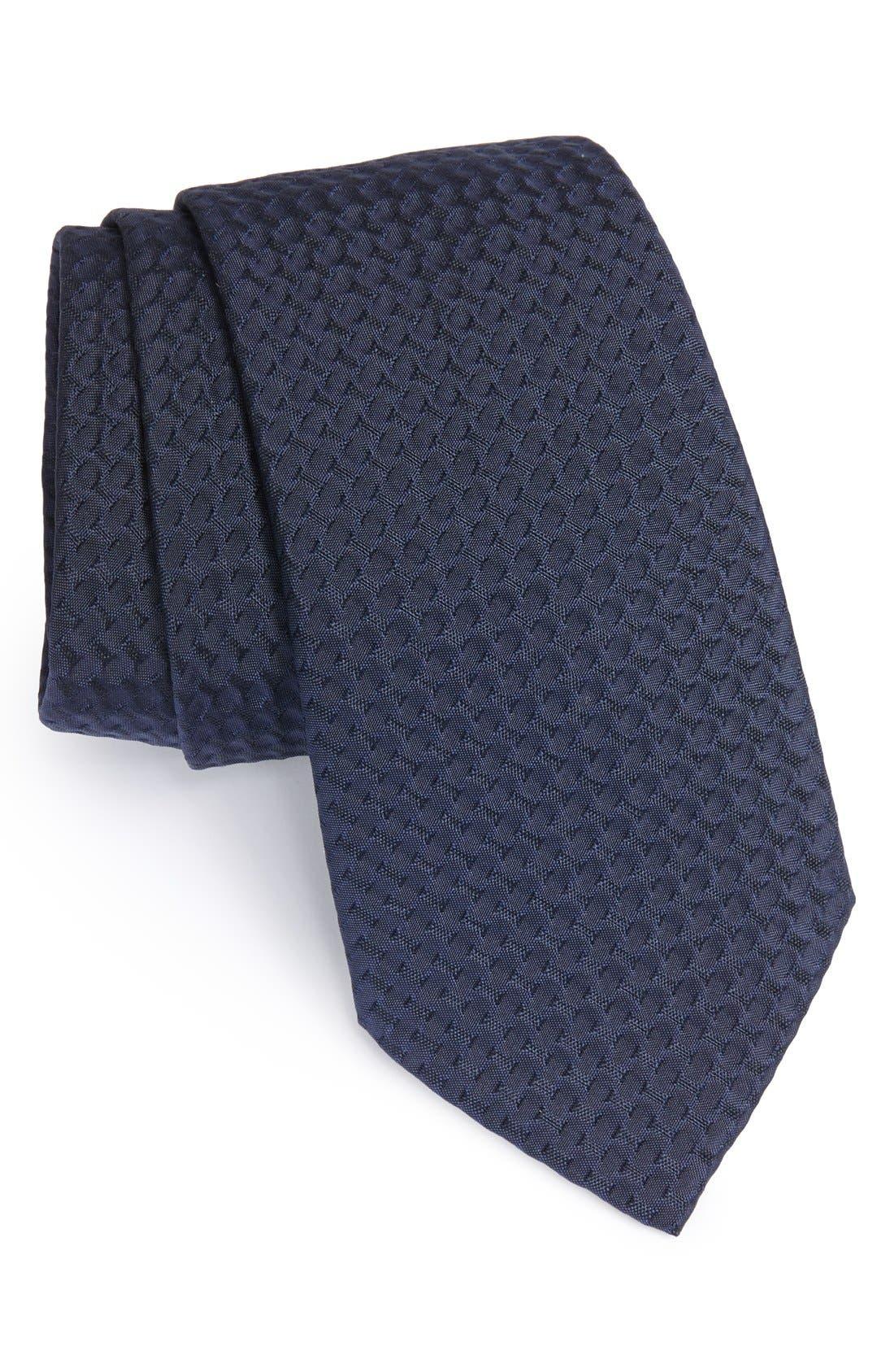 Alternate Image 1 Selected - Armani Collezioni Woven Silk & Cotton Tie