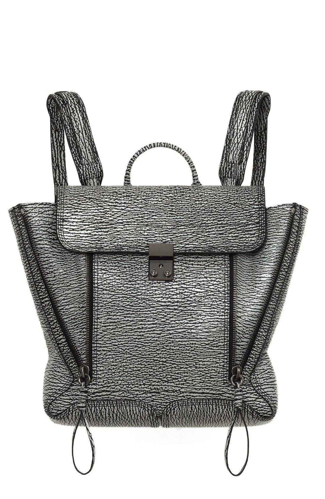Alternate Image 1 Selected - 3.1 Phillip Lim 'Pashli' Shark Embossed Leather Backpack