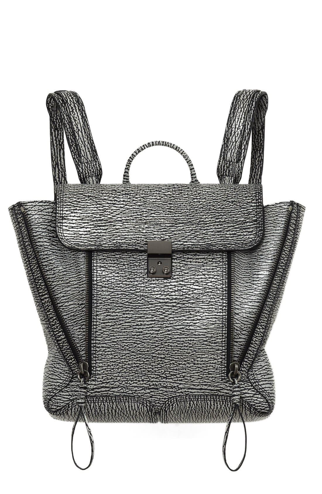 Main Image - 3.1 Phillip Lim 'Pashli' Shark Embossed Leather Backpack