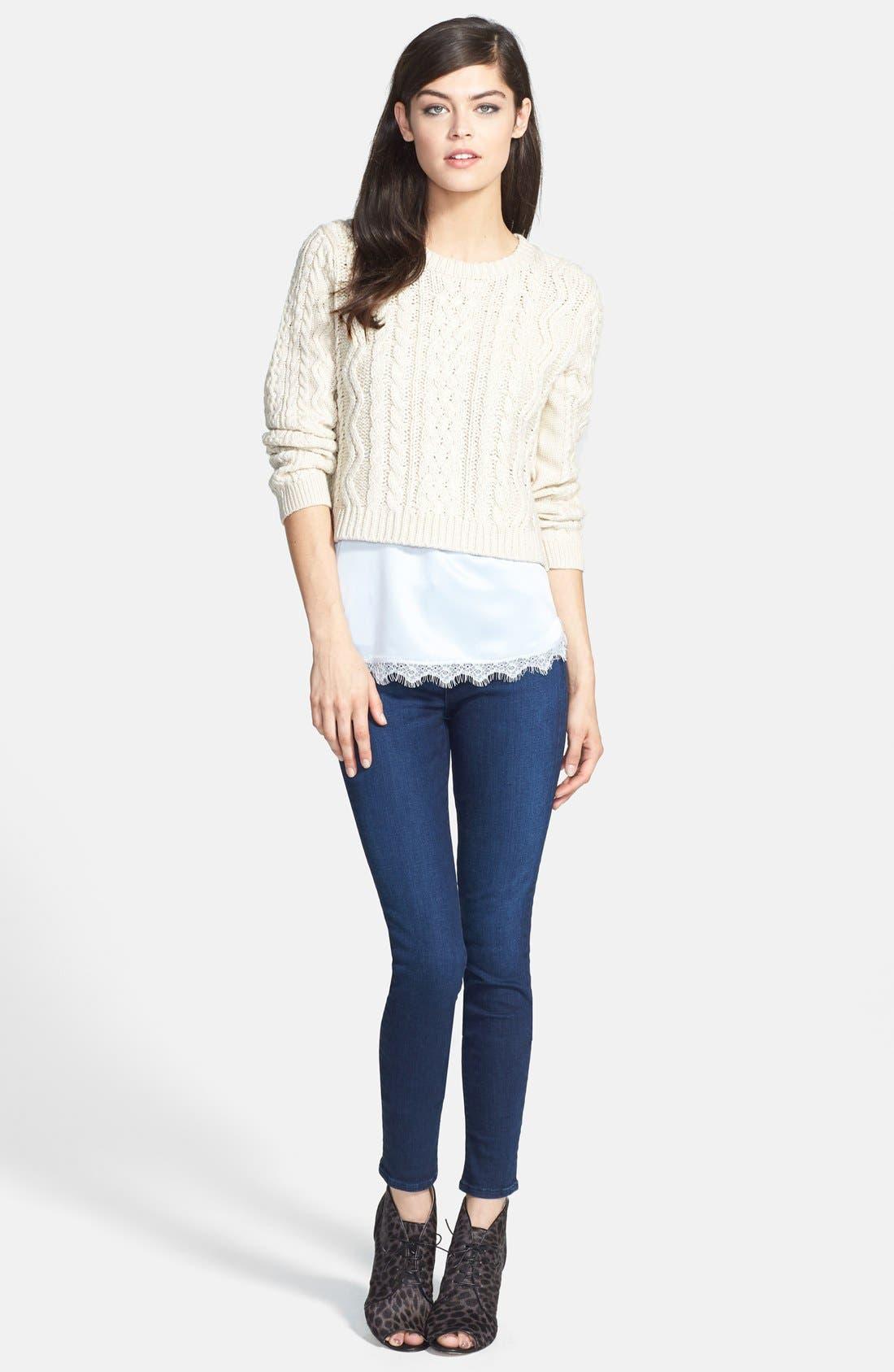 Alternate Image 6  - J Brand 'Maria' High Rise Skinny Jeans (Supreme) (Nordstrom Exclusive)