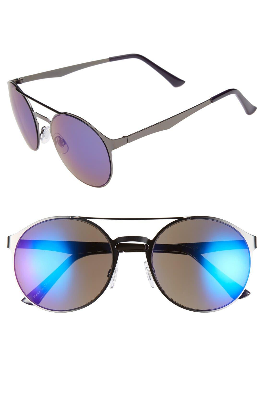 Main Image - FE NY 'Future' 55mm Round Sunglasses