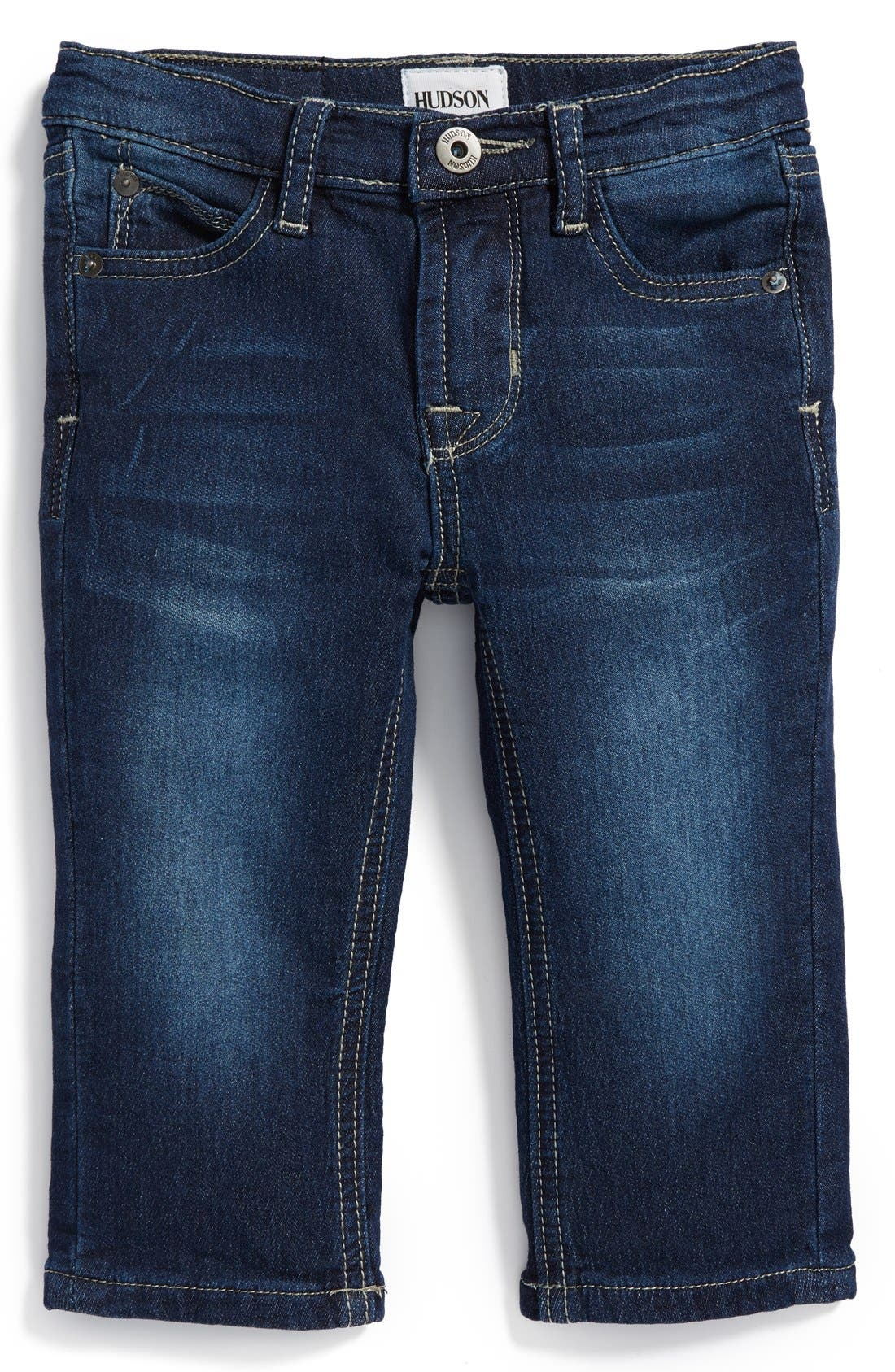 Alternate Image 1 Selected - Hudson Kids 'Parker' French Terry Skinny Jeans (Baby Boys) (Online Only)