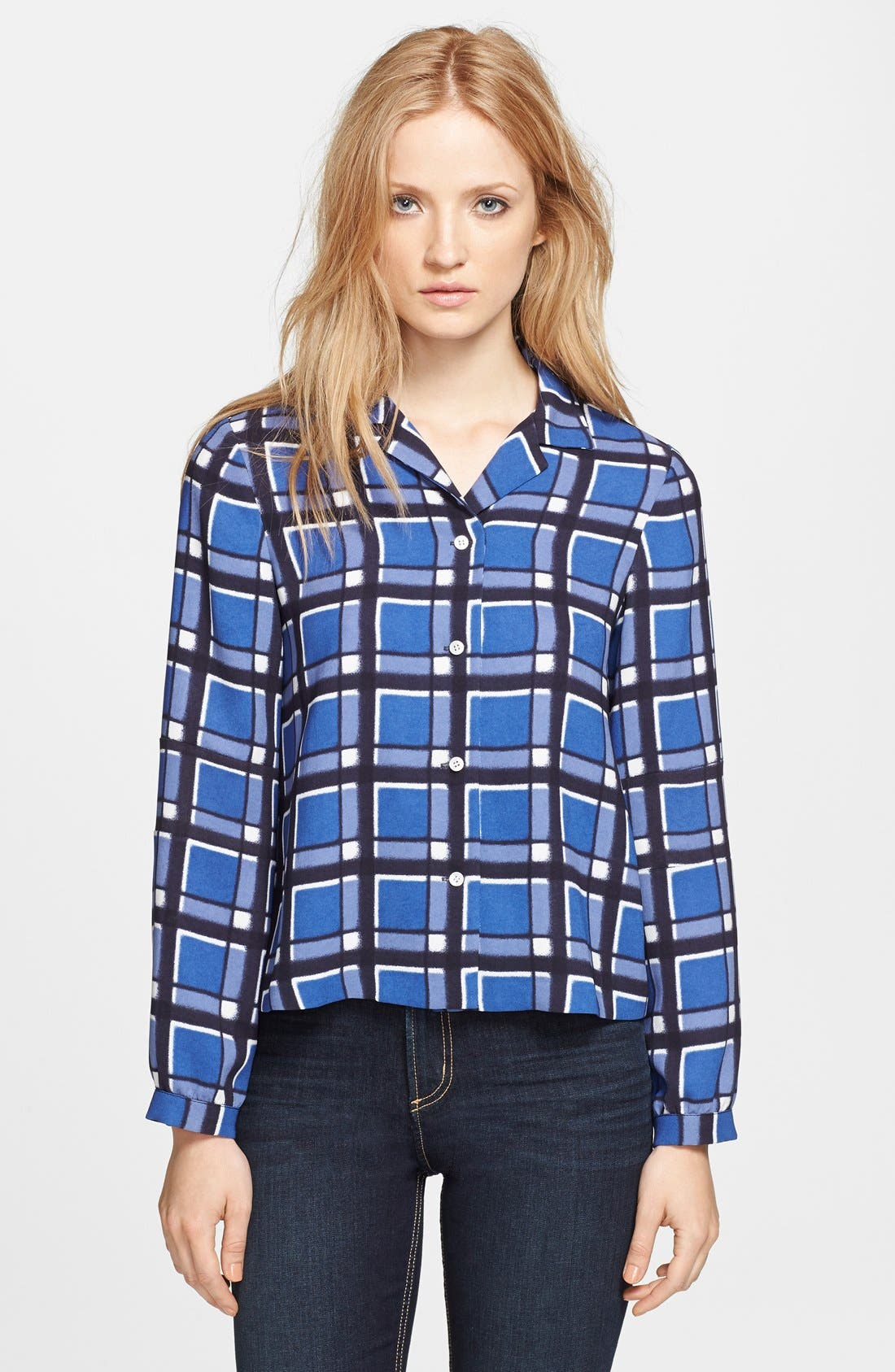 Main Image - MARC BY MARC JACOBS 'Toto' Plaid Blouse