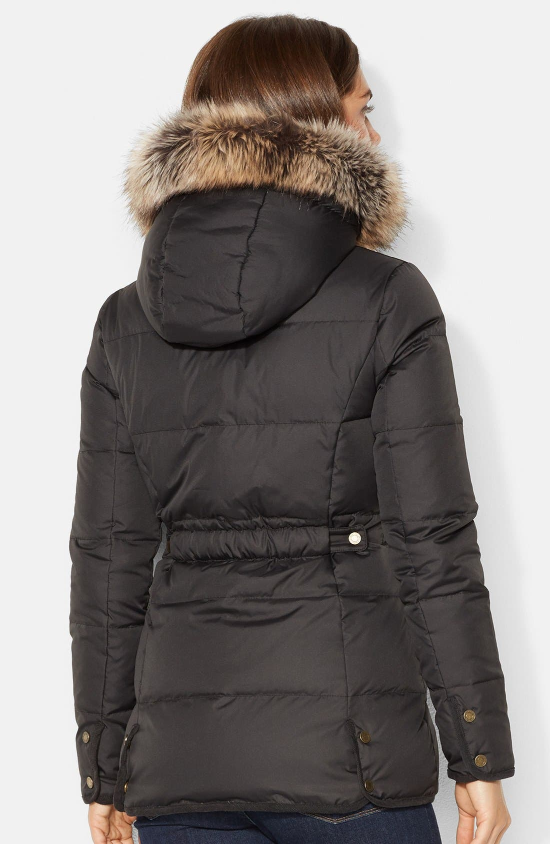 Alternate Image 2  - Lauren Ralph Lauren Faux Shearling Lined Down & Feather Jacket (Online Only)