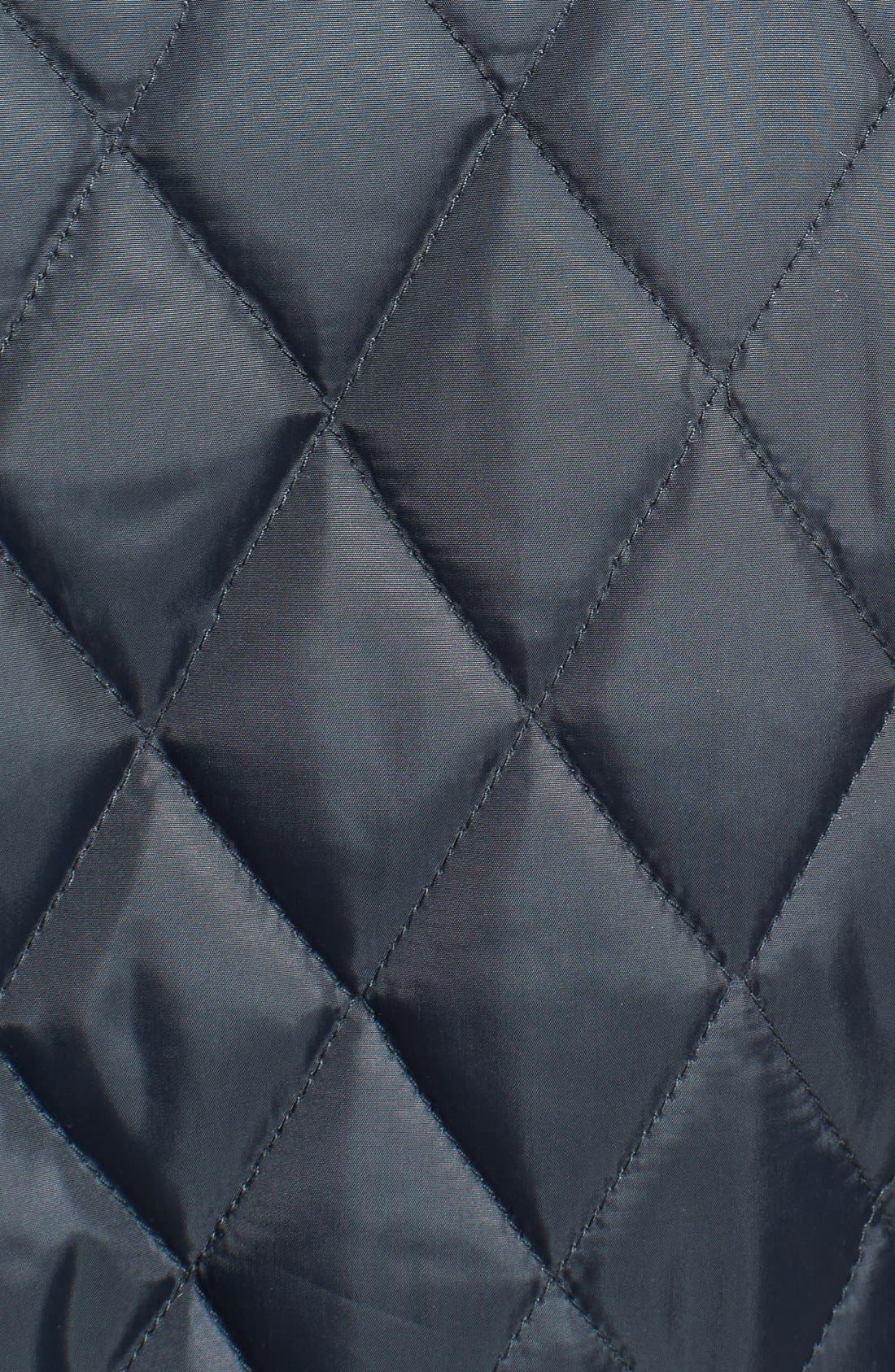 Alternate Image 3  - Sam Edelman Plaid Trim Quilted Coat