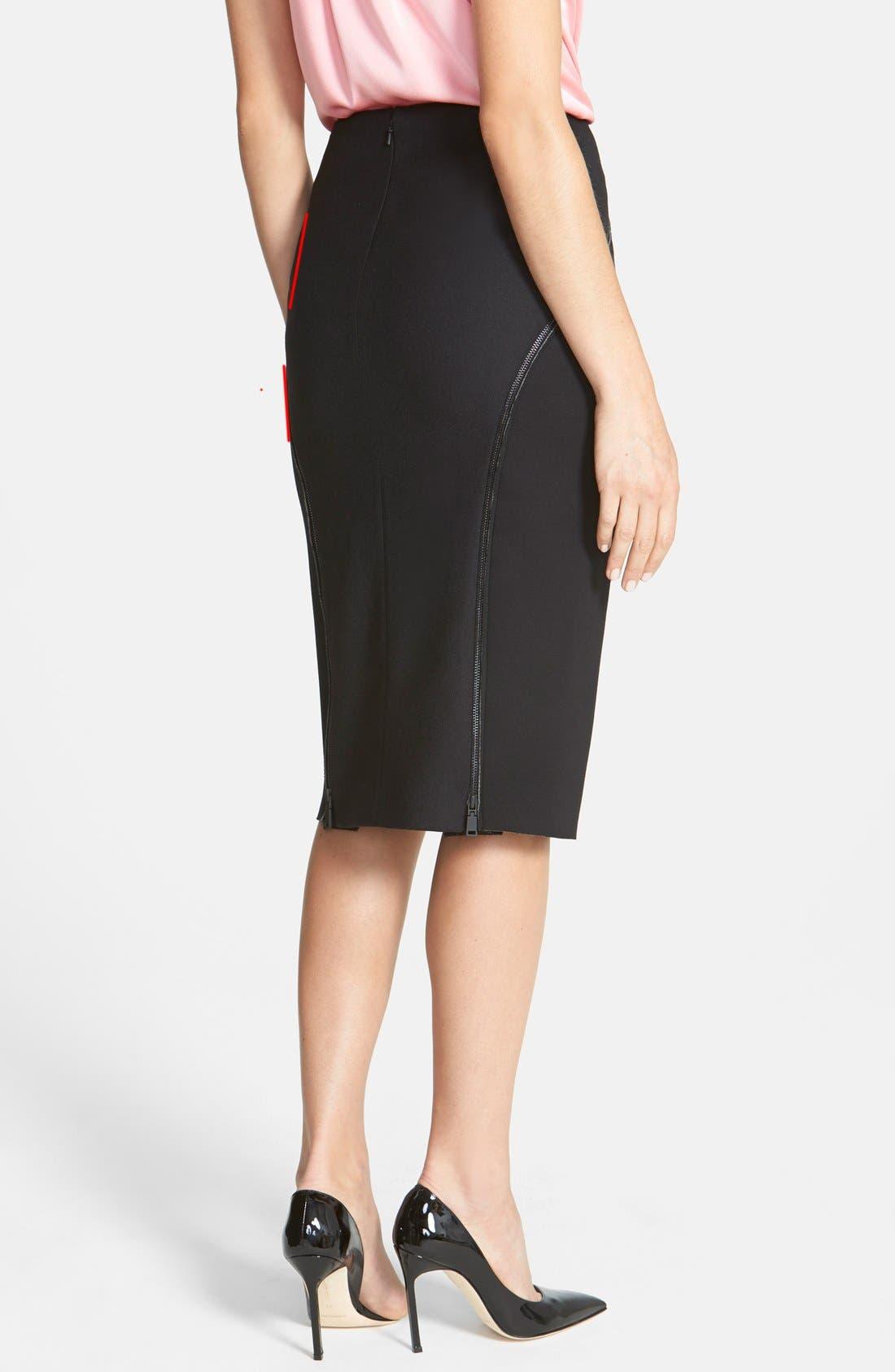 Alternate Image 2  - Elie Tahari 'Harla' Knit Skirt