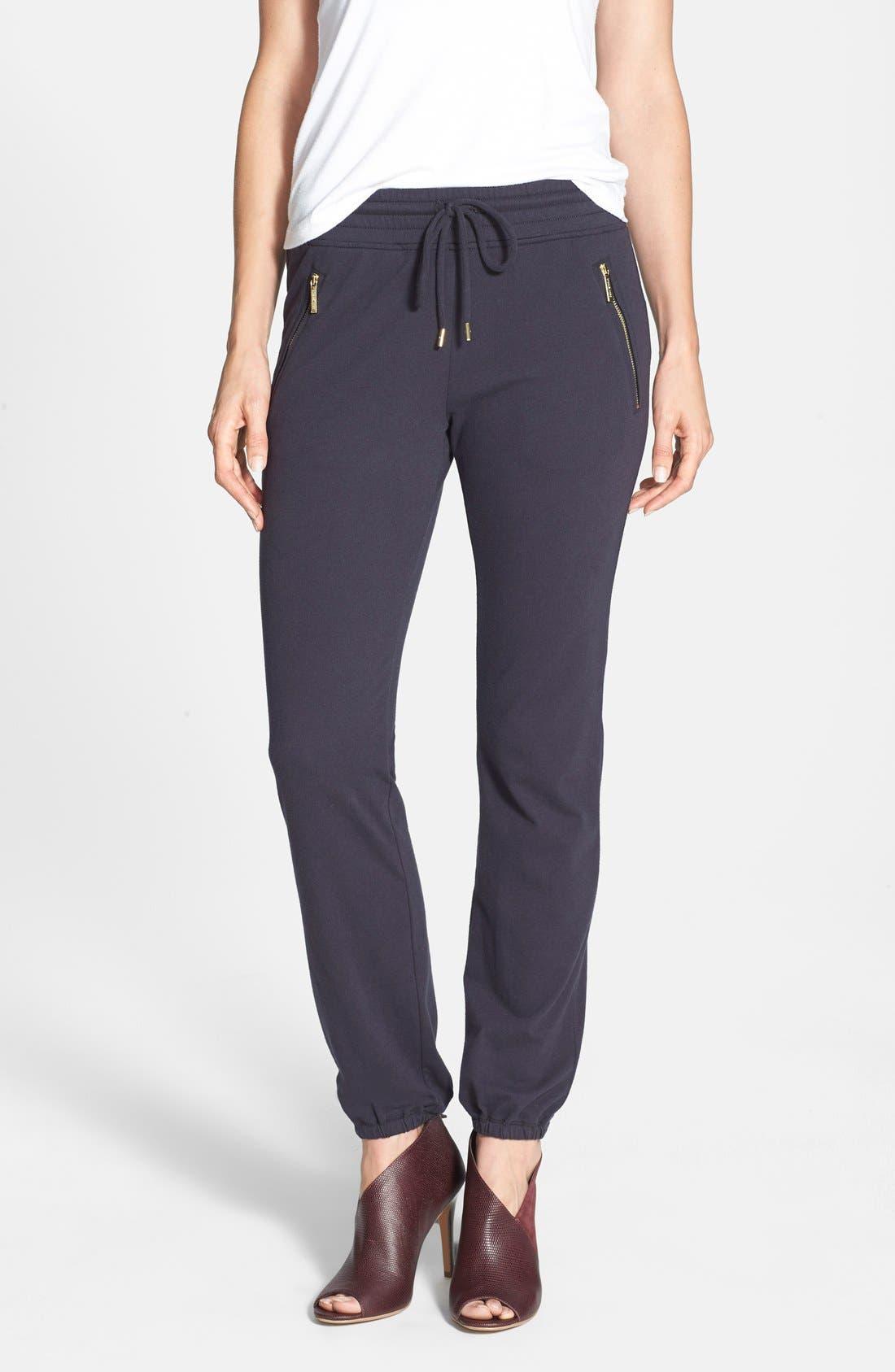 Alternate Image 1 Selected - MICHAEL Michael Kors Zip Pocket Knit Track Pants (Regular & Petite)