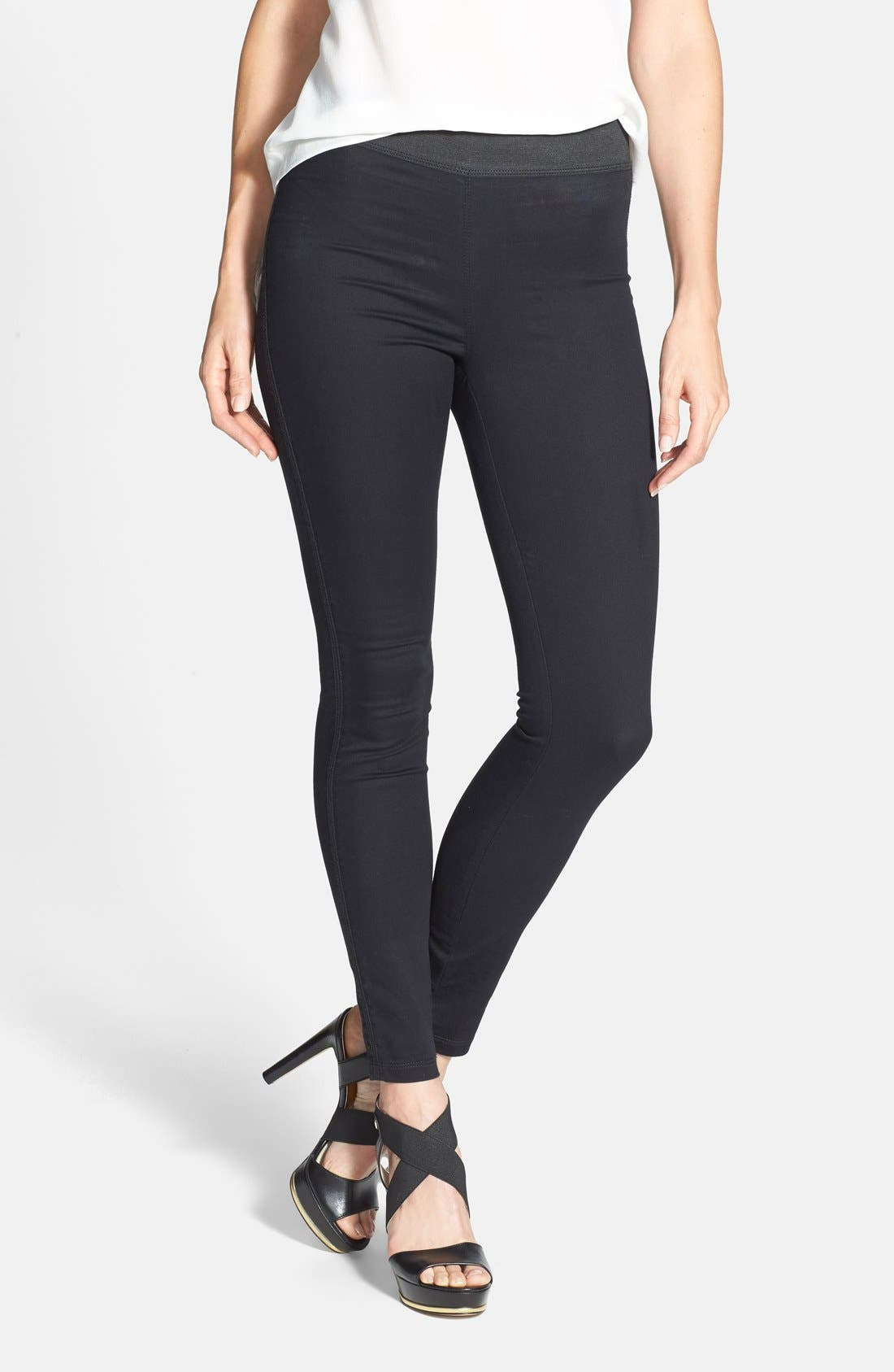 Main Image - Two by Vince Camuto Back Seam Denim Leggings