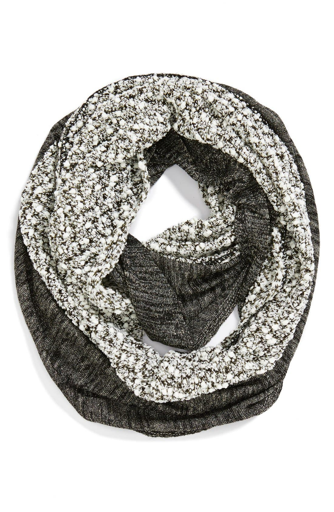 Alternate Image 1 Selected - Collection XIIX Metallic Confetti Mixed Media Infinity Scarf