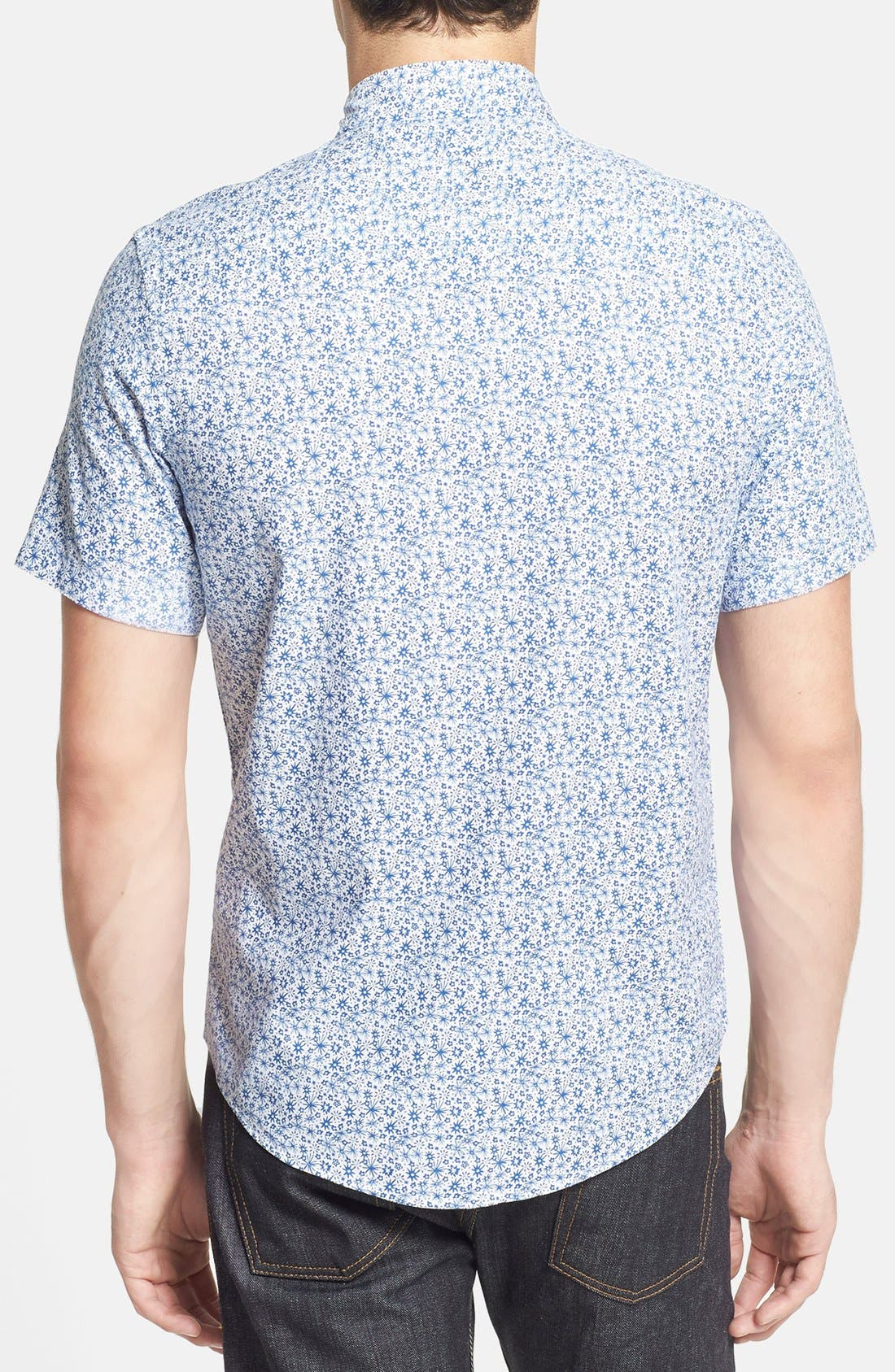 Alternate Image 2  - Topman Slim Fit Short Sleeve Ditsy Floral Print Shirt