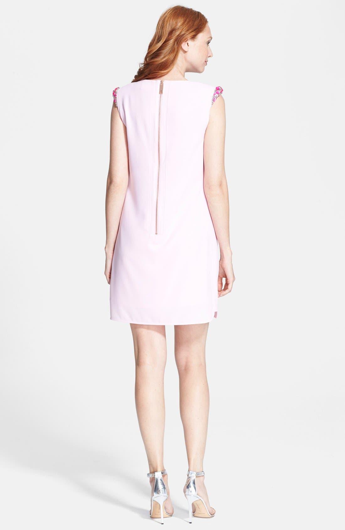 Alternate Image 2  - Ted Baker London Embellished Shoulder Shift Dress
