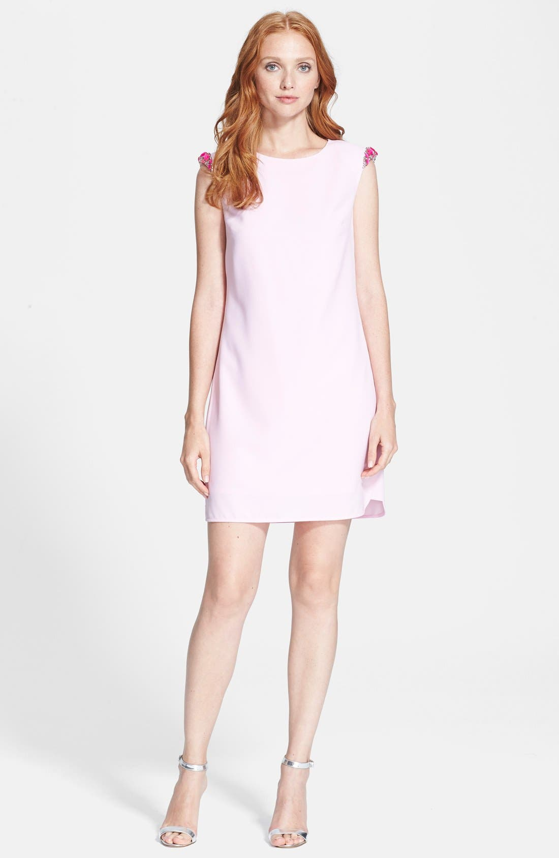 Alternate Image 1 Selected - Ted Baker London Embellished Shoulder Shift Dress
