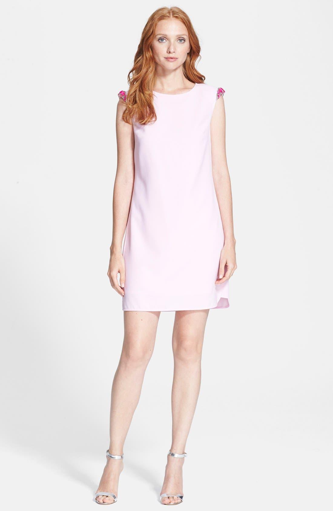 Main Image - Ted Baker London Embellished Shoulder Shift Dress