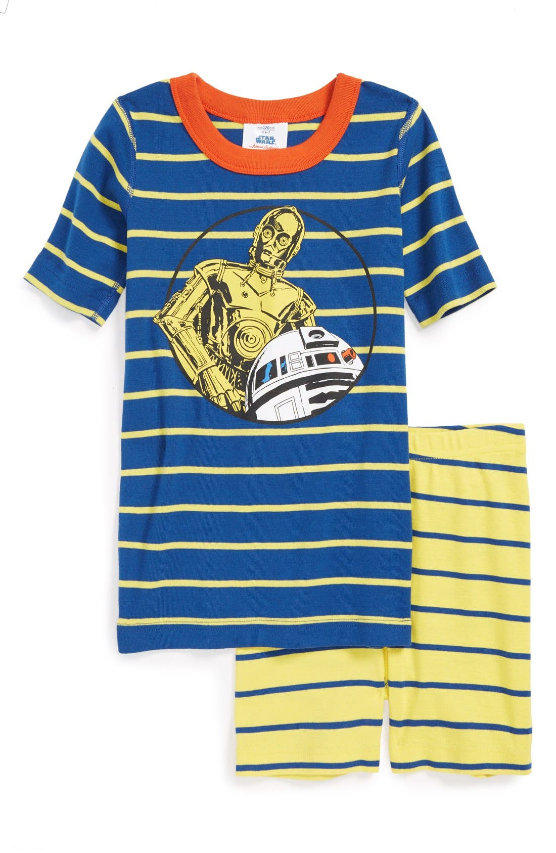 Alternate Image 1 Selected - Hanna Andersson 'Star Wars™ - C-3PO and R2-D2' Organic Cotton Two-Piece Fitted Pajamas (Little Boys & Big Boys)