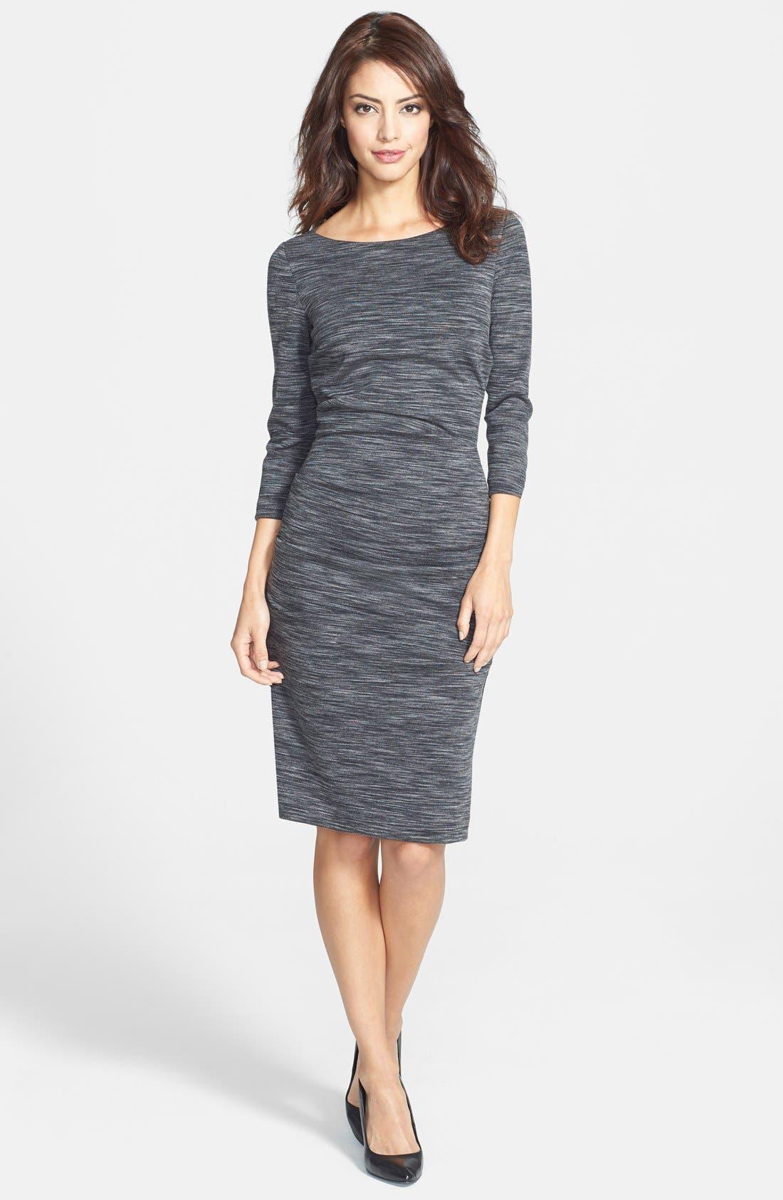 Alternate Image 3  - Nicole Miller 'Christina' Ponte Sheath Dress
