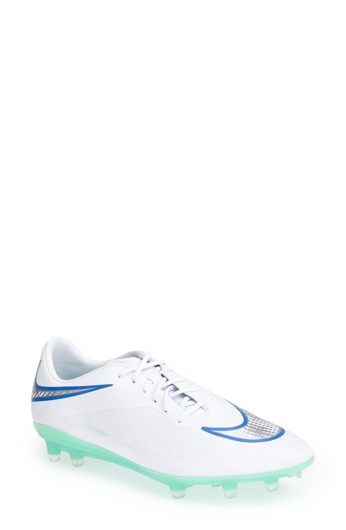 Alternate Image 1 Selected - Nike 'Hypervenom Phatal' Firm Ground Soccer Cleat (Women)