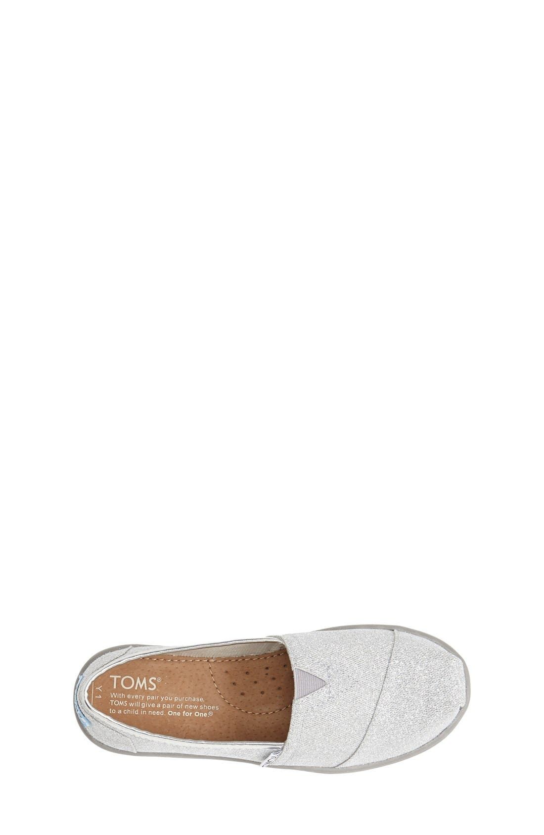 Alternate Image 3  - TOMS 'Classic Youth - Glitter' Slip-On (Toddler, Little Kid & Big Kid)