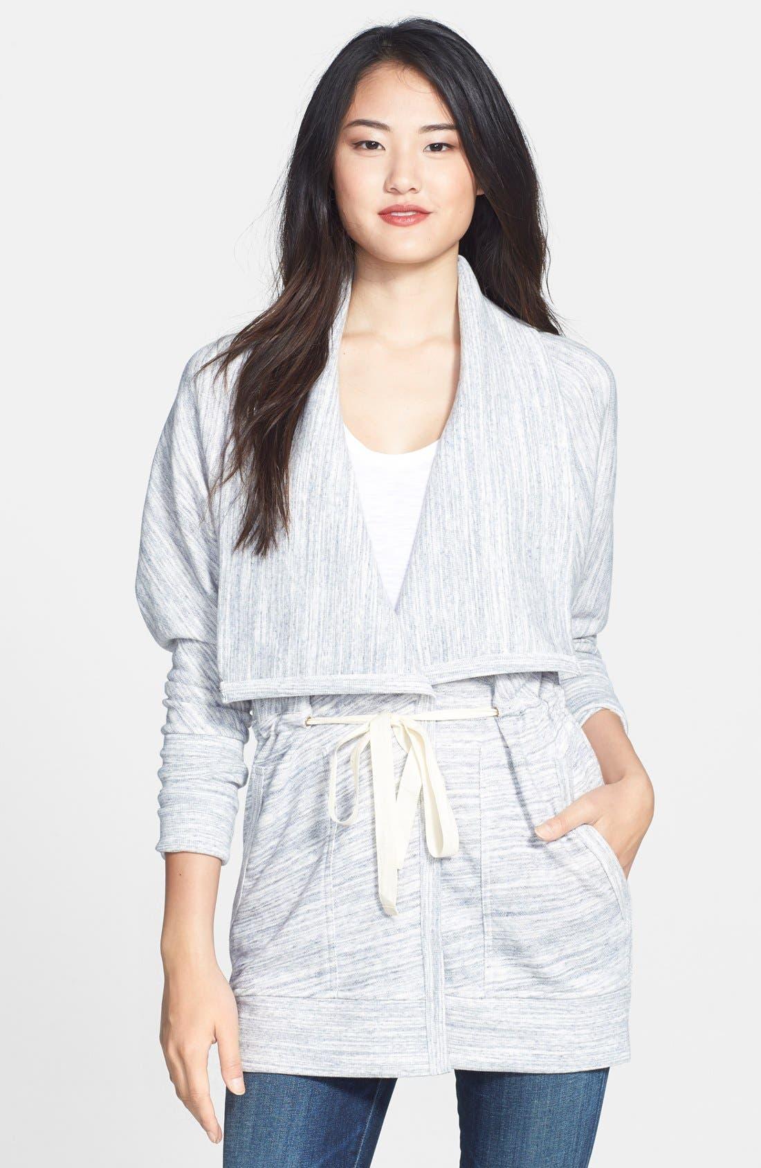 Main Image - Caslon® Oversize Collar French Terry Jacket (Regular & Petite)