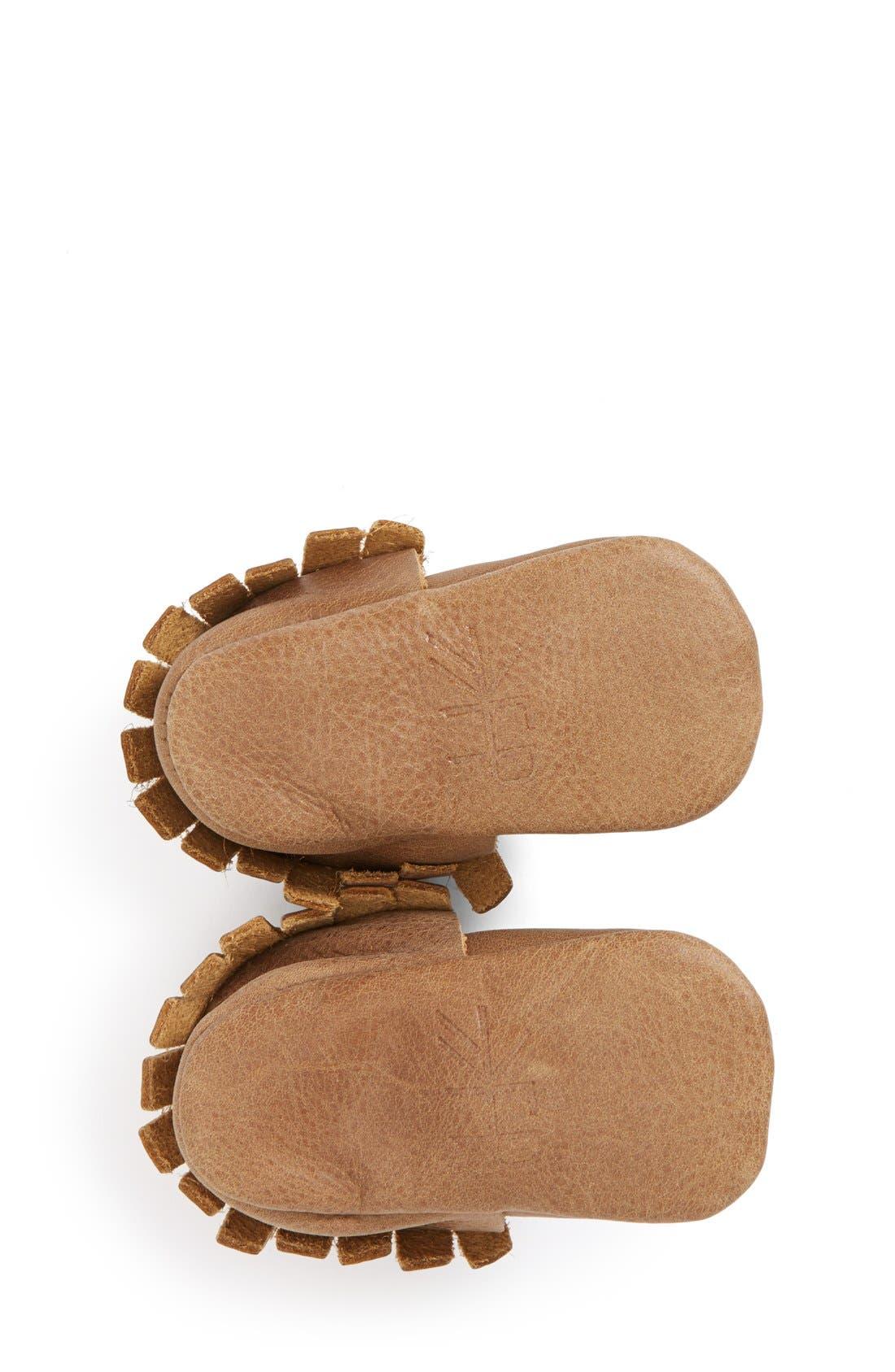 Alternate Image 4  - Freshly Picked Leather Moccasin (Baby & Walker)