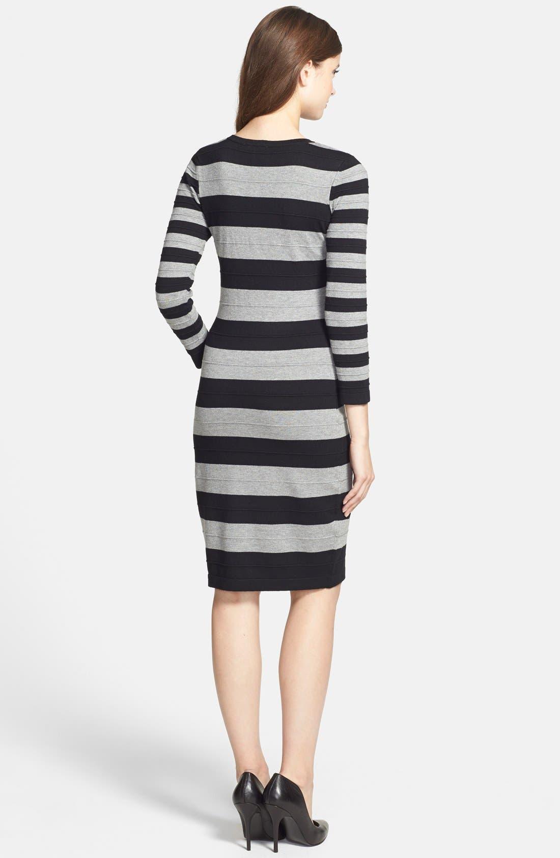 Alternate Image 2  - Gabby Skye Stripe Sweater Dress