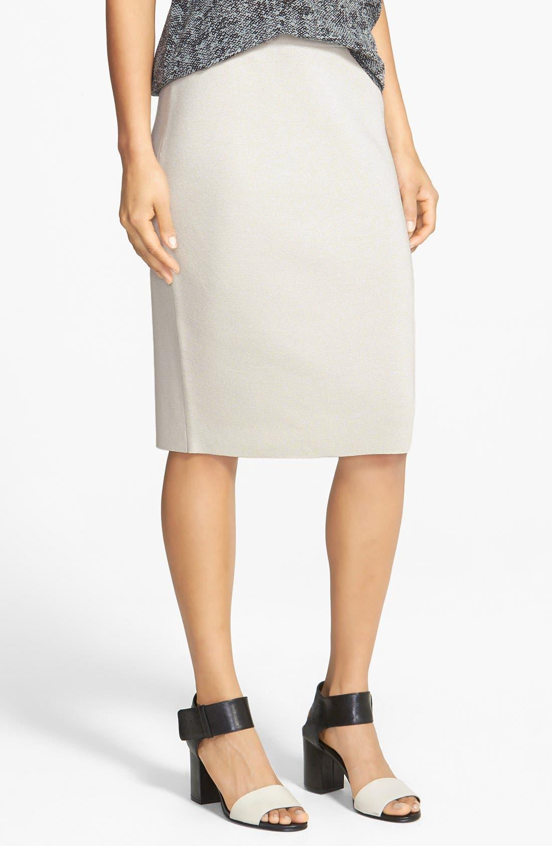 Alternate Image 1 Selected - Eileen Fisher Silk & Cotton Straight Skirt
