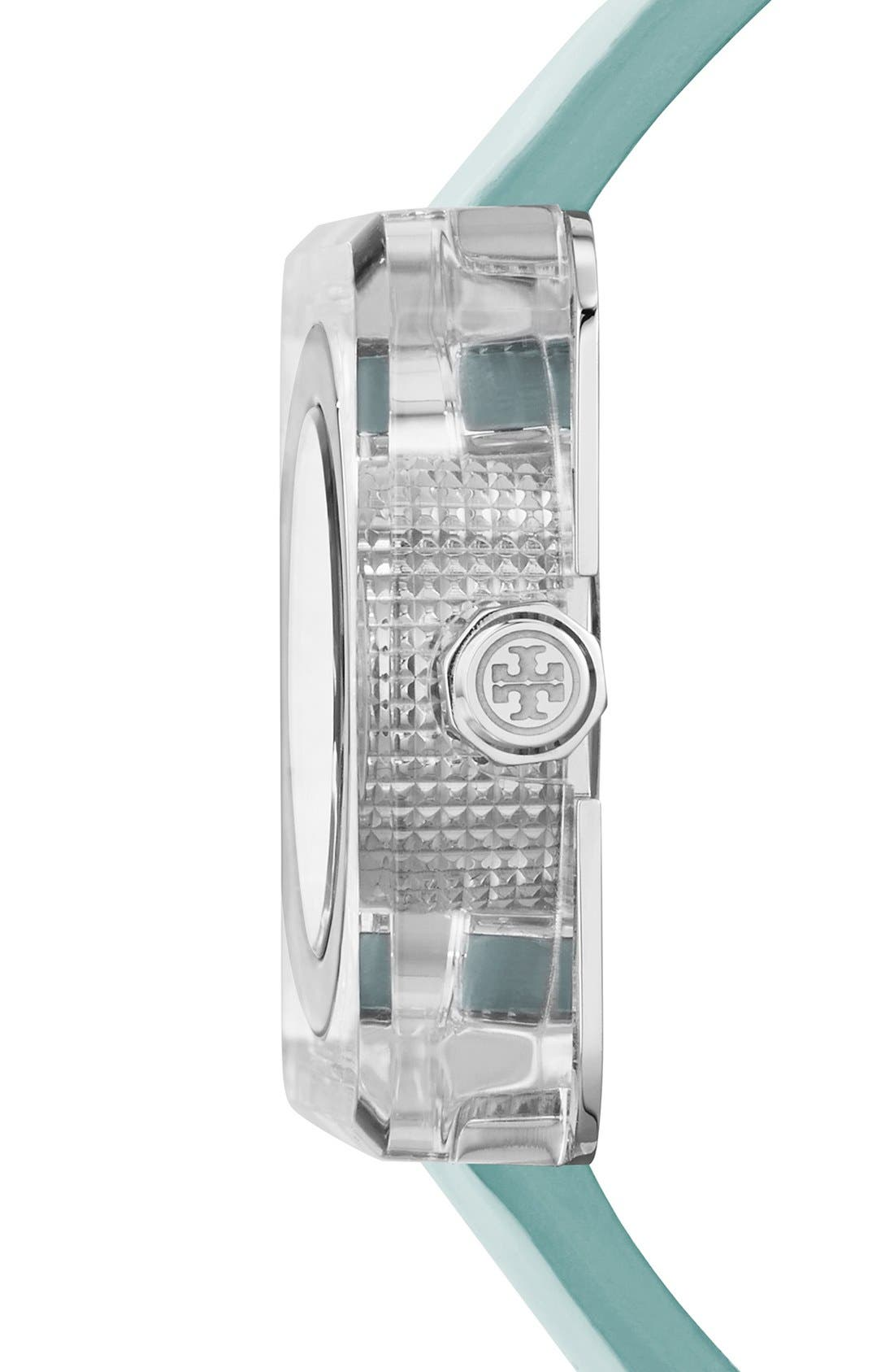 Alternate Image 4  - Tory Burch 'Izzie' Square Leather Strap Watch, 36mm