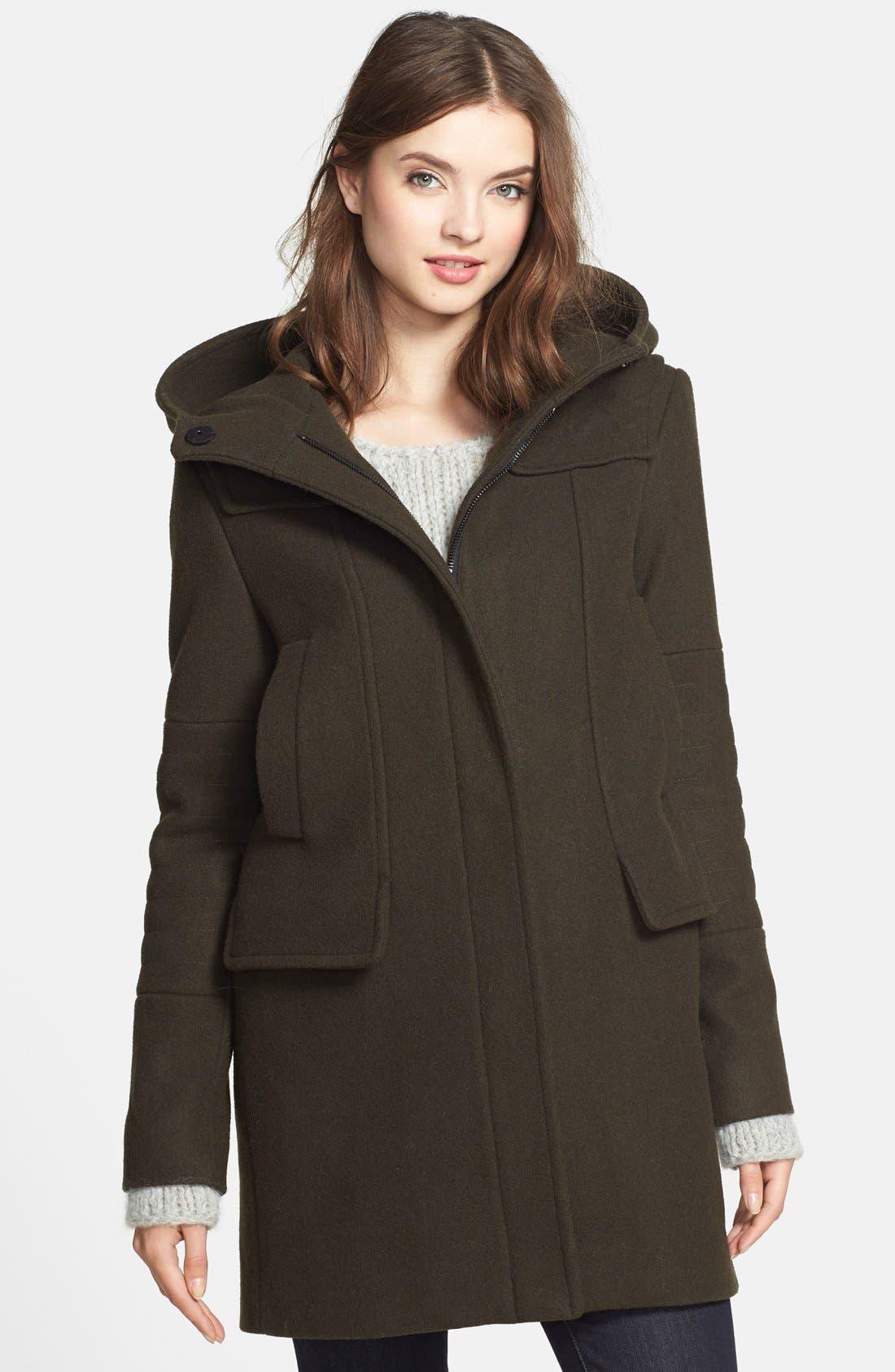 Main Image - Vince Camuto Wool Blend Duffle Coat