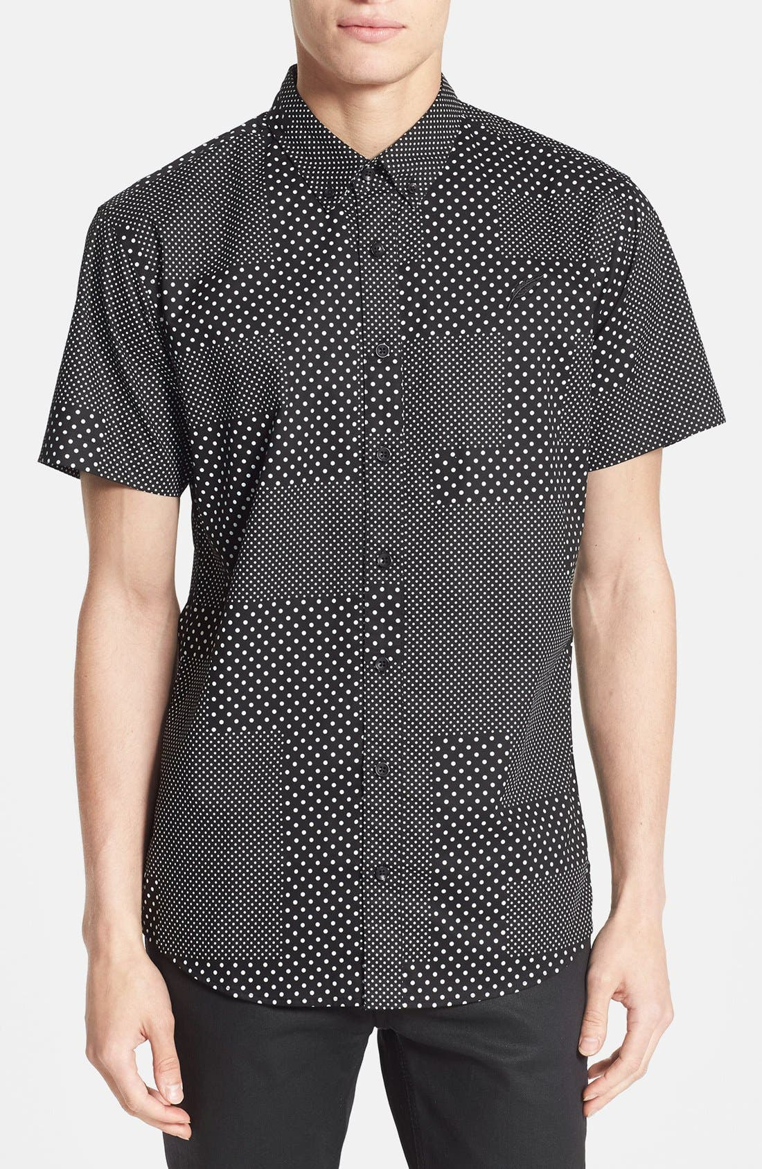 Alternate Image 1 Selected - PUBLISH BRAND 'Elias' Short Sleeve Dot Print Poplin Shirt