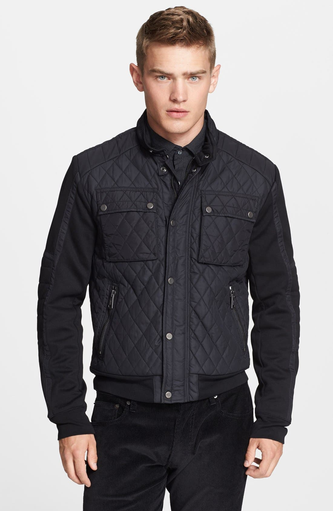 Alternate Image 1 Selected - Ralph Lauren Black Label Quilted Moto Jacket