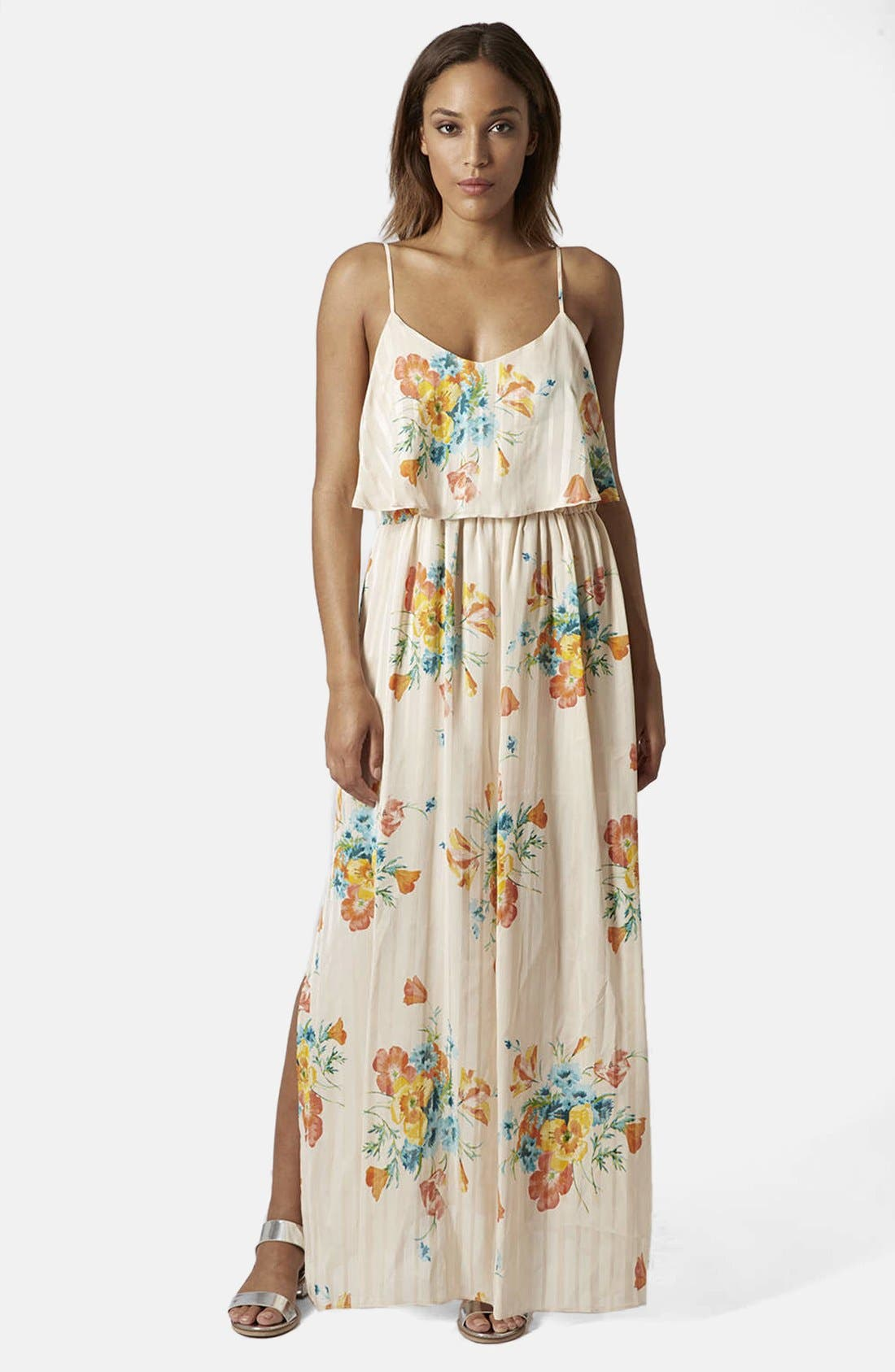 Alternate Image 1 Selected - Topshop Floral Maxi Dress