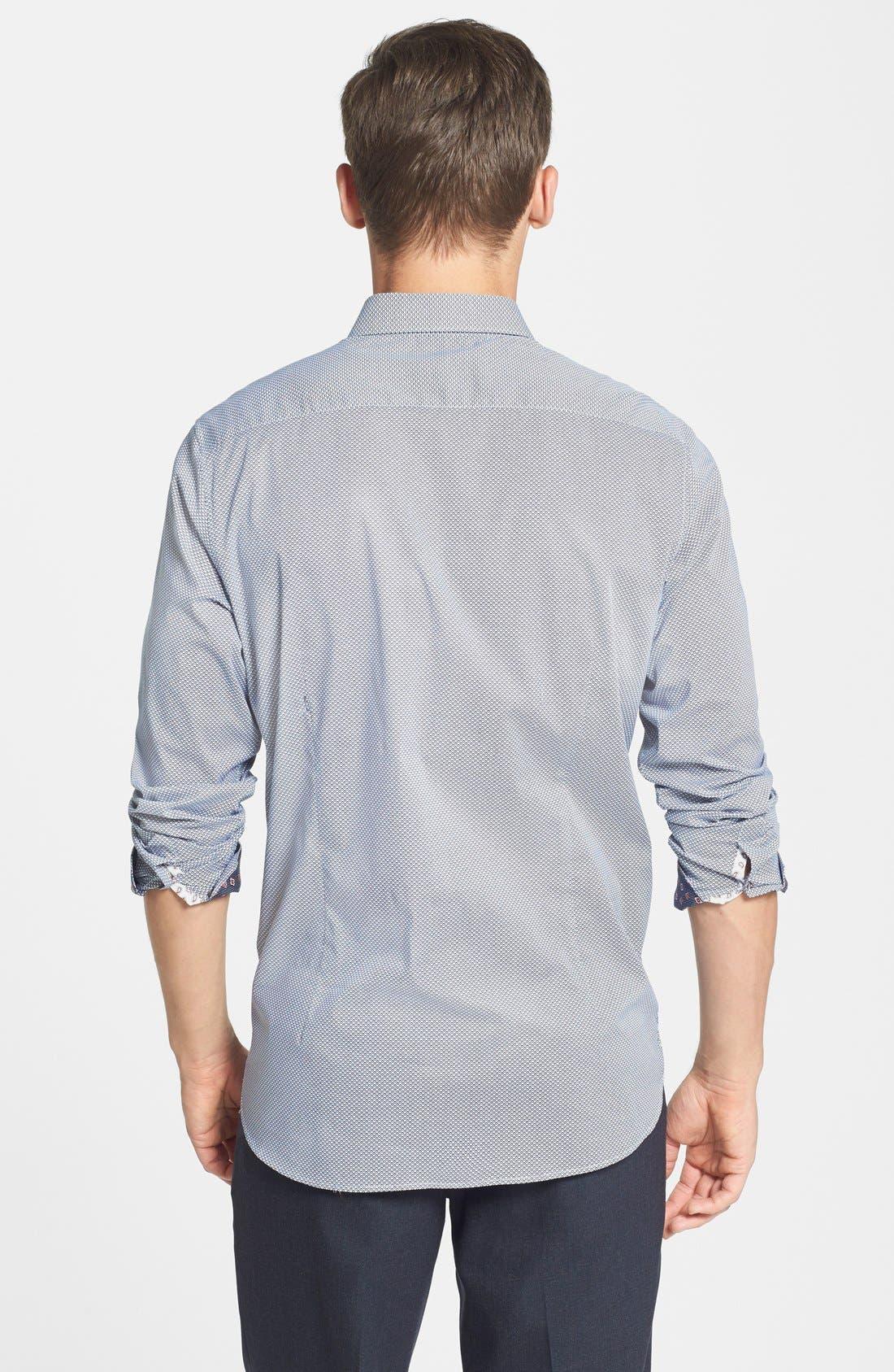 Alternate Image 2  - Ted Baker London 'Bablong' Trim Fit Geometric Sport Shirt
