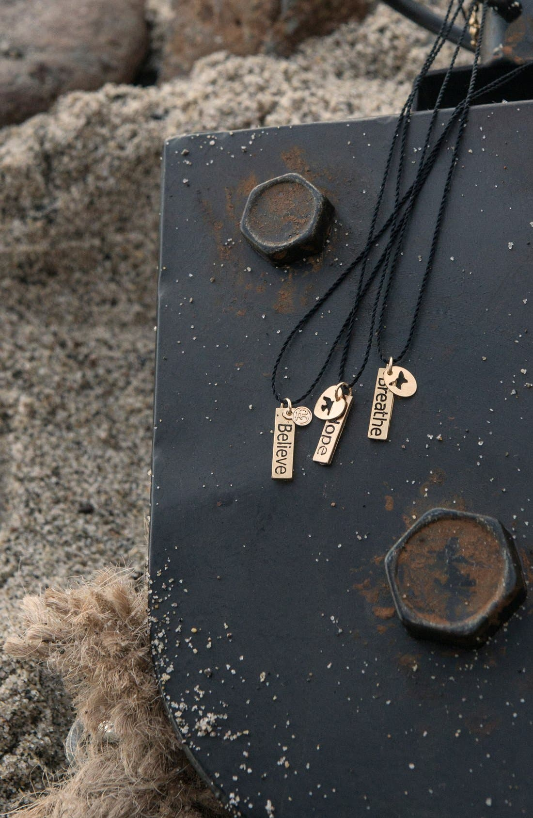 Alternate Image 3  - Blee Inara 'Believe & Ohm' Message in a Bottle Handmade Necklace