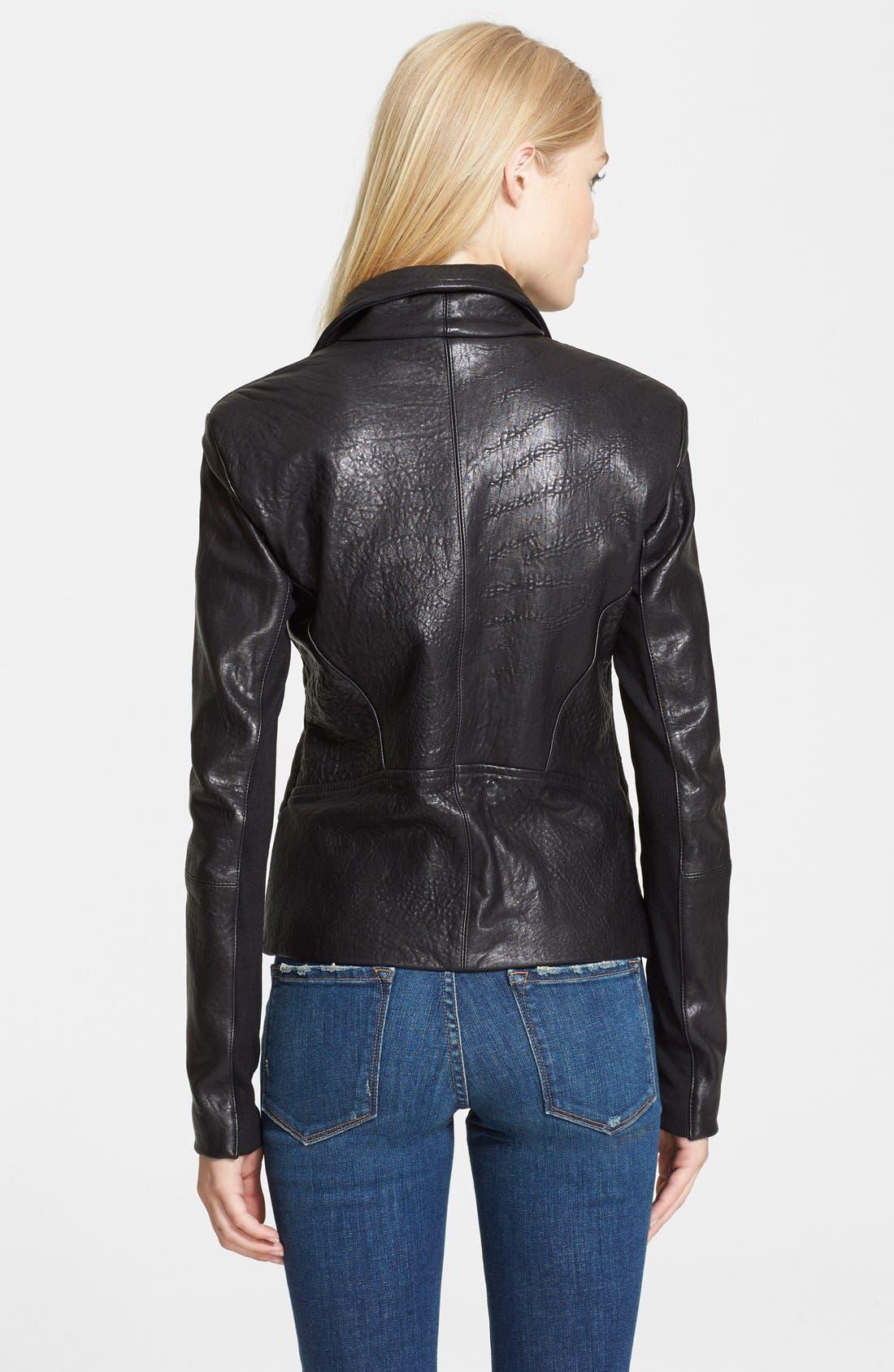 Alternate Image 2  - Veda 'Dallas' Embossed Leather Jacket