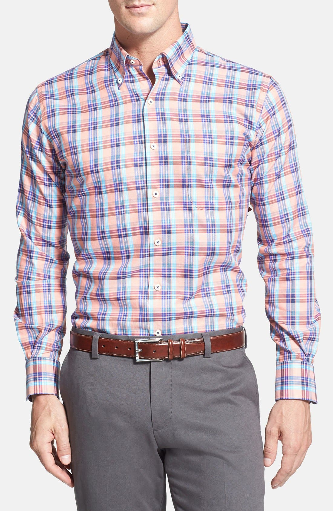 Main Image - Peter Millar 'Carmel Pane' Regular Fit Sport Shirt