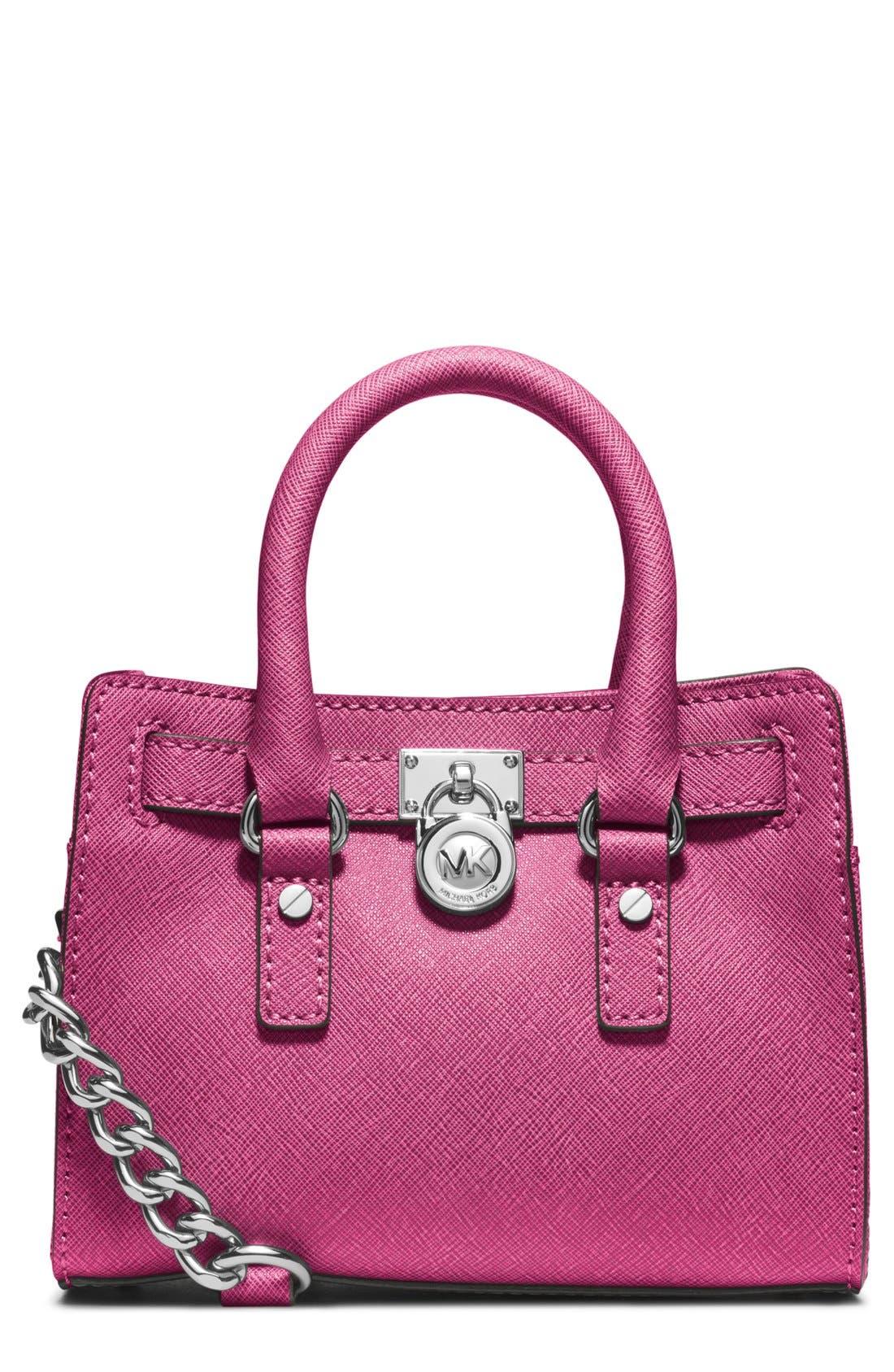 Alternate Image 1 Selected - MICHAEL Michael Kors 'Mini Hamilton' Leather Messenger Bag