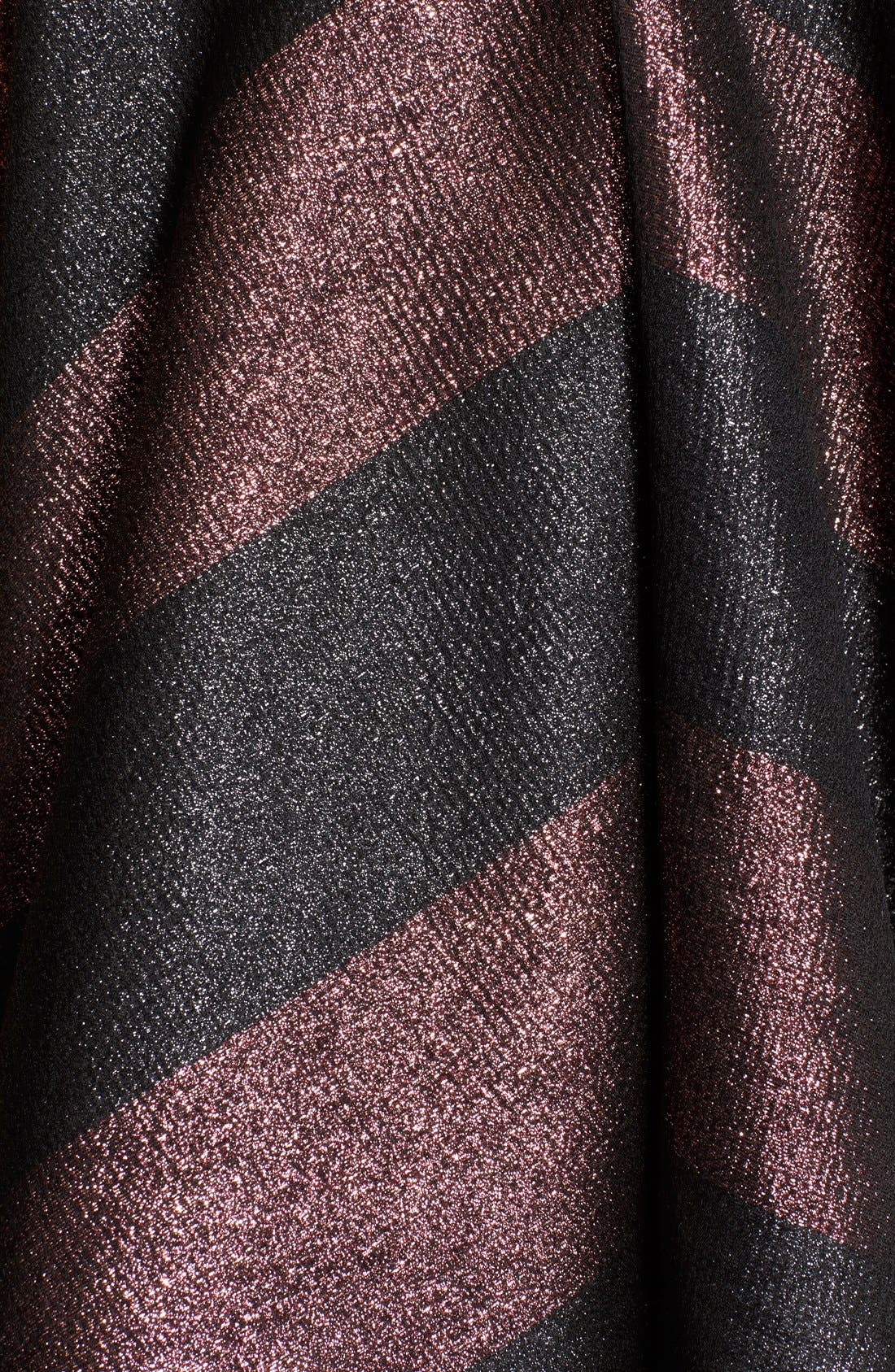 Alternate Image 3  - Alice + Olivia 'Foss' Metallic Stripe Fit & Flare Dress