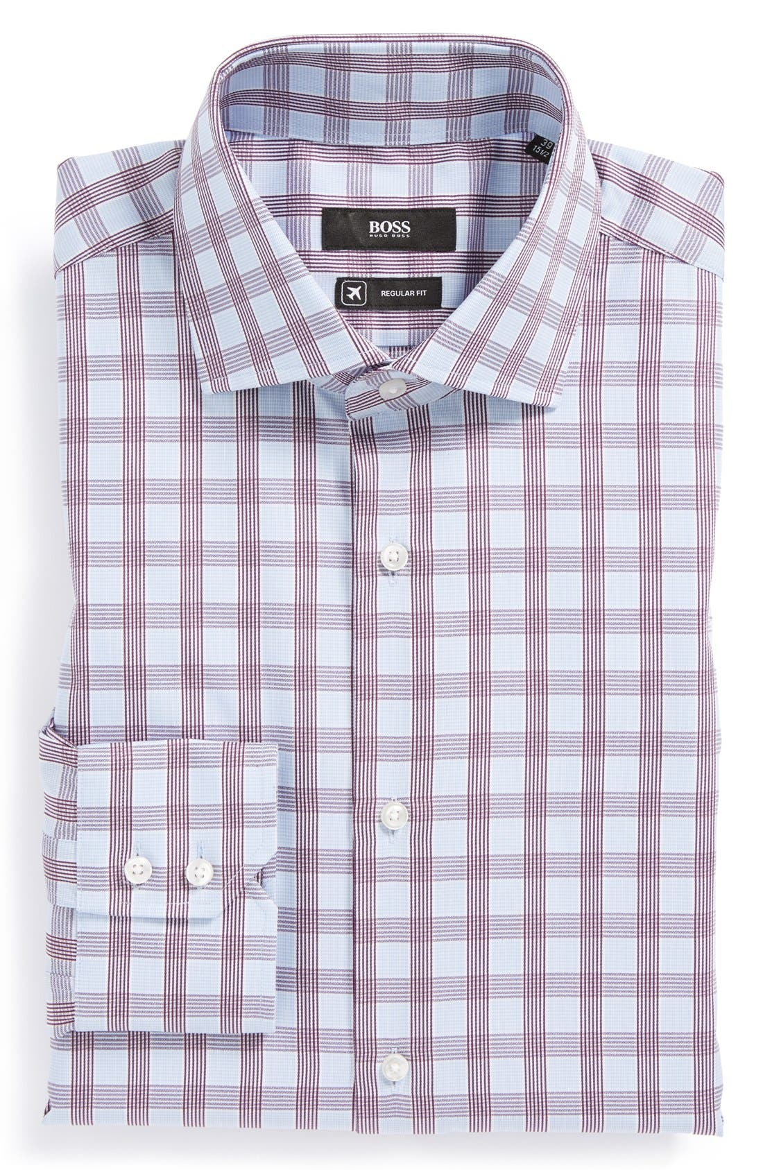 Alternate Image 1 Selected - BOSS HUGO BOSS 'Gerald WW' Regular Fit Travel Dress Shirt