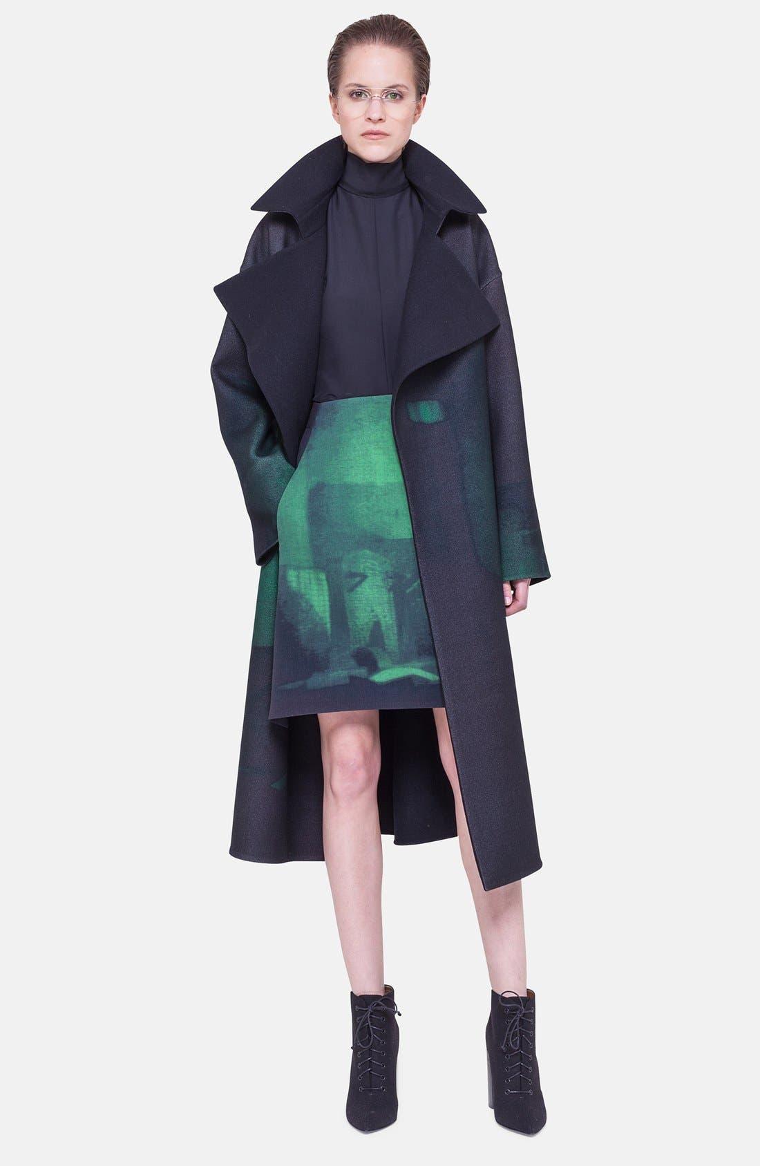 Alternate Image 4  - Akris Print Double Face Wool Blend Skirt